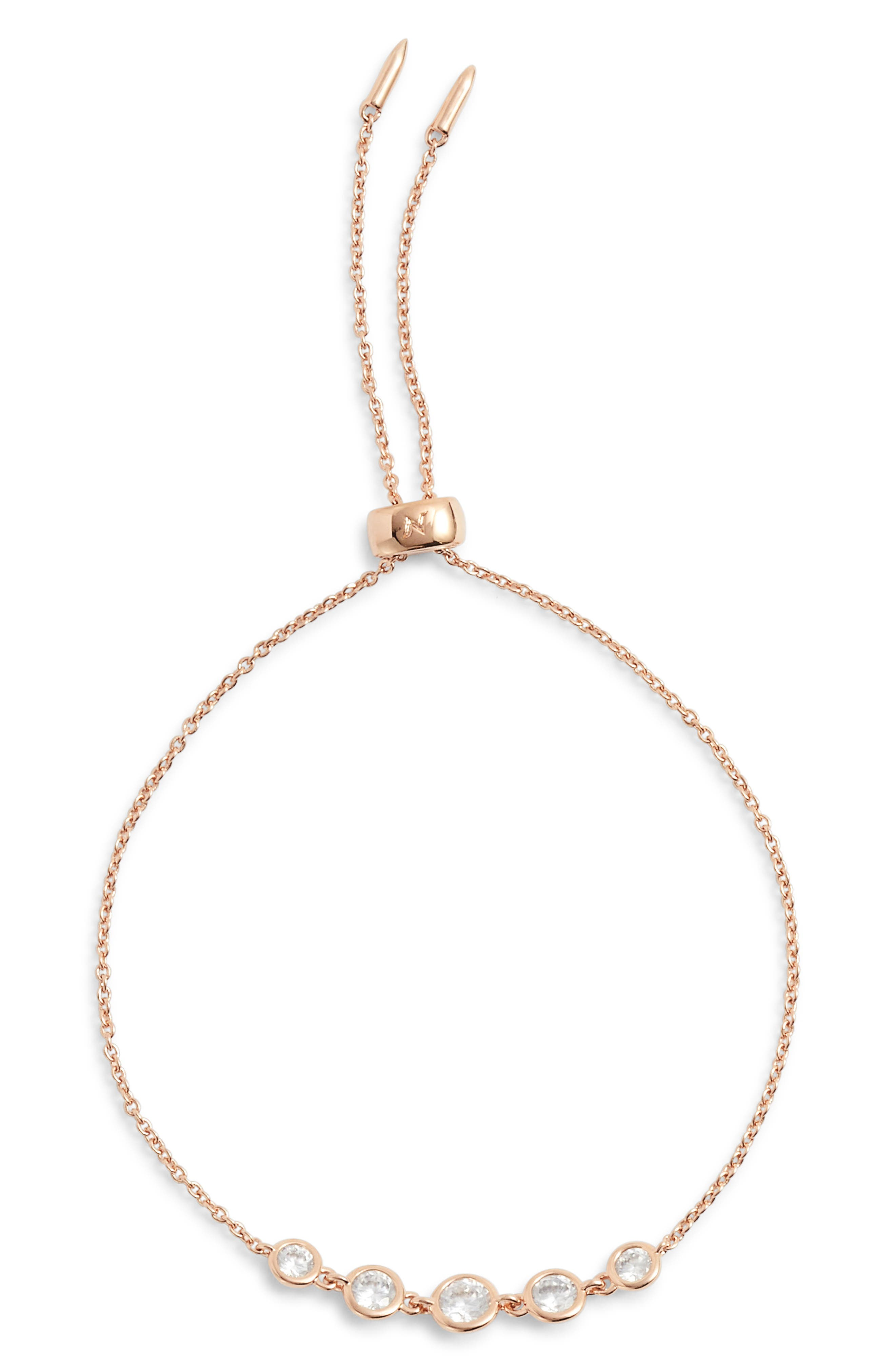 Slip Through Bracelet,                         Main,                         color, ROSE GOLD