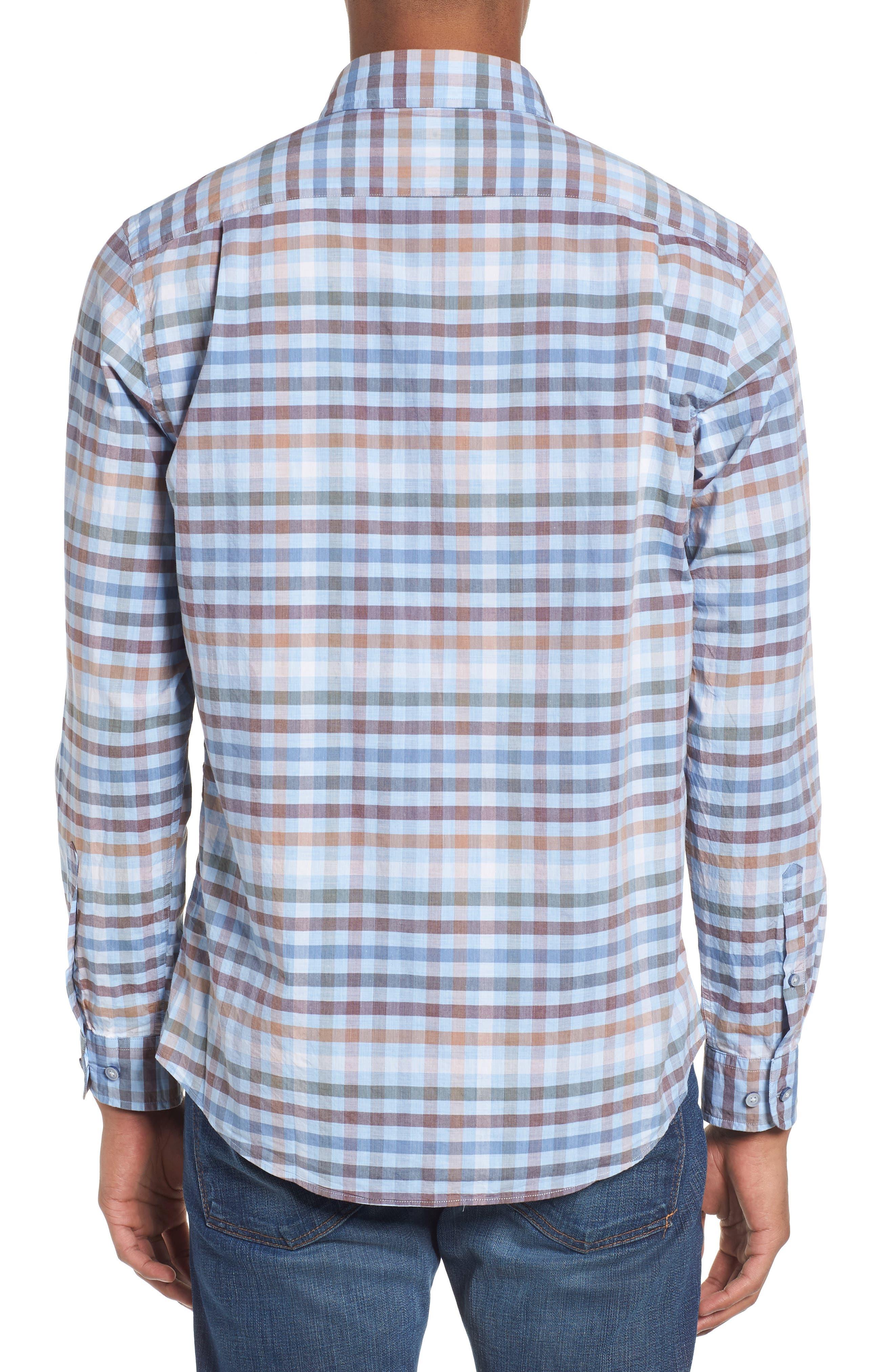 Rothesay Regular Fit Check Sport Shirt,                             Alternate thumbnail 2, color,                             STONEWASH