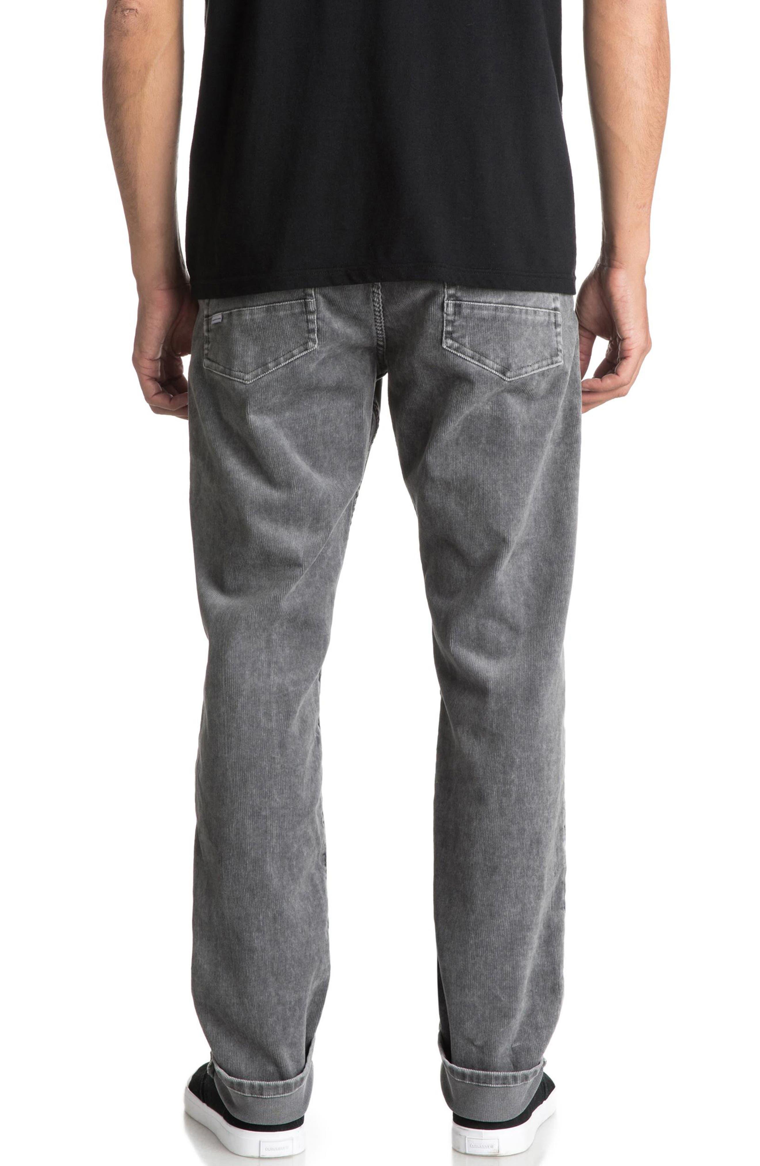 QUIKSILVER,                             Kracker Straight Fit Corduroy Pants,                             Alternate thumbnail 2, color,                             020