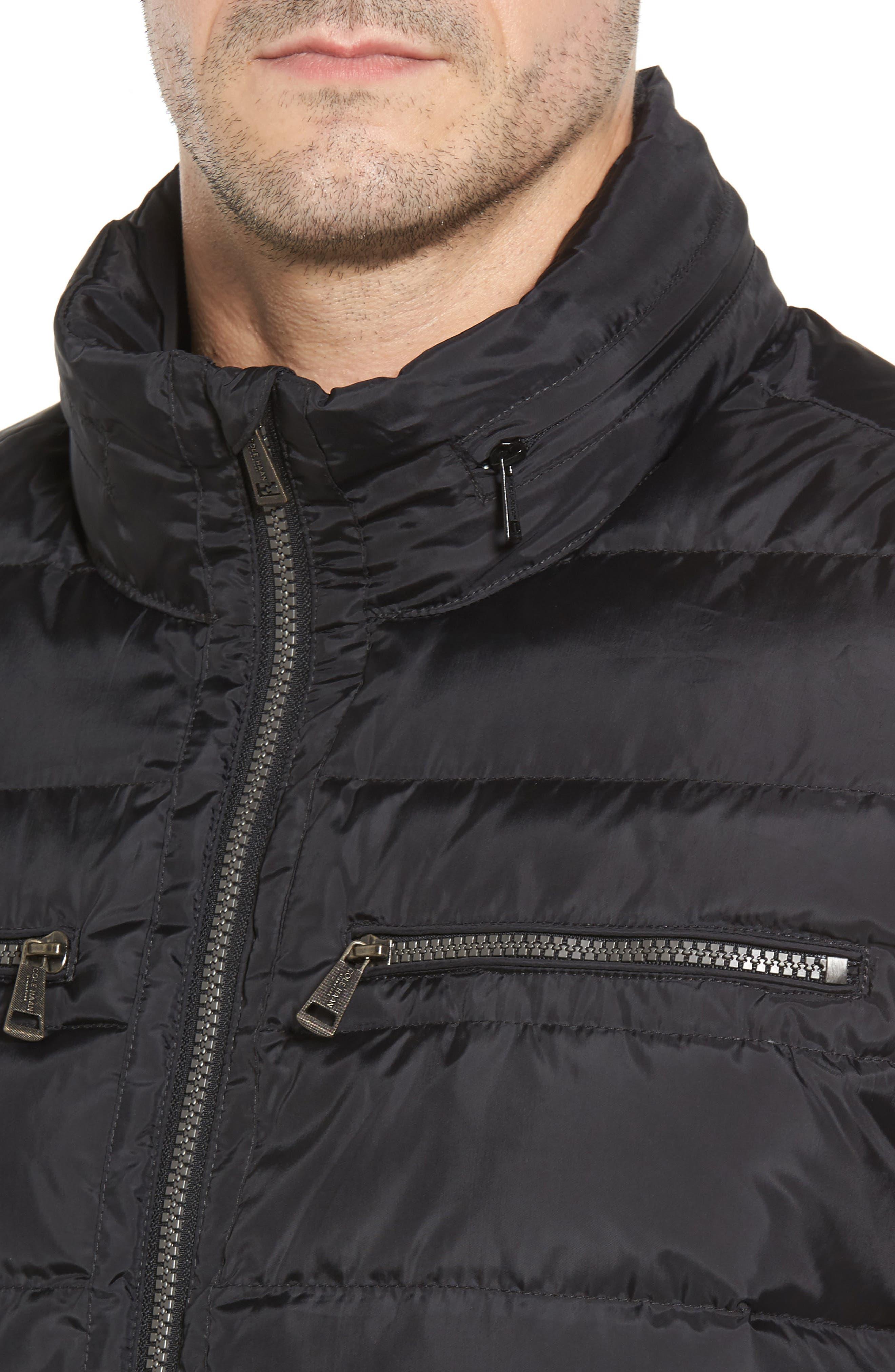 Packable Down Jacket,                             Alternate thumbnail 4, color,                             BLACK