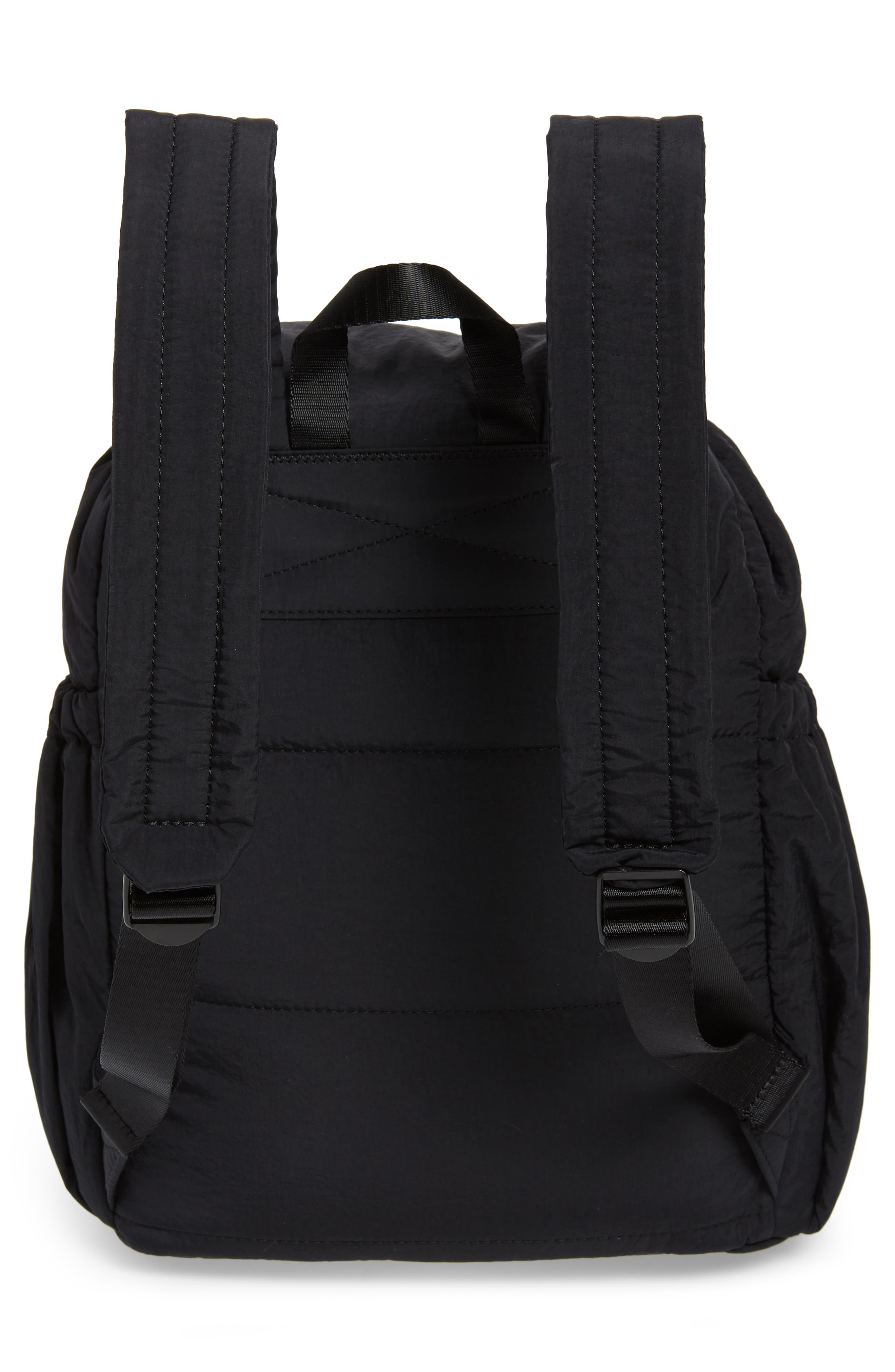 Teri Nylon Backpack,                             Alternate thumbnail 3, color,                             BLACK