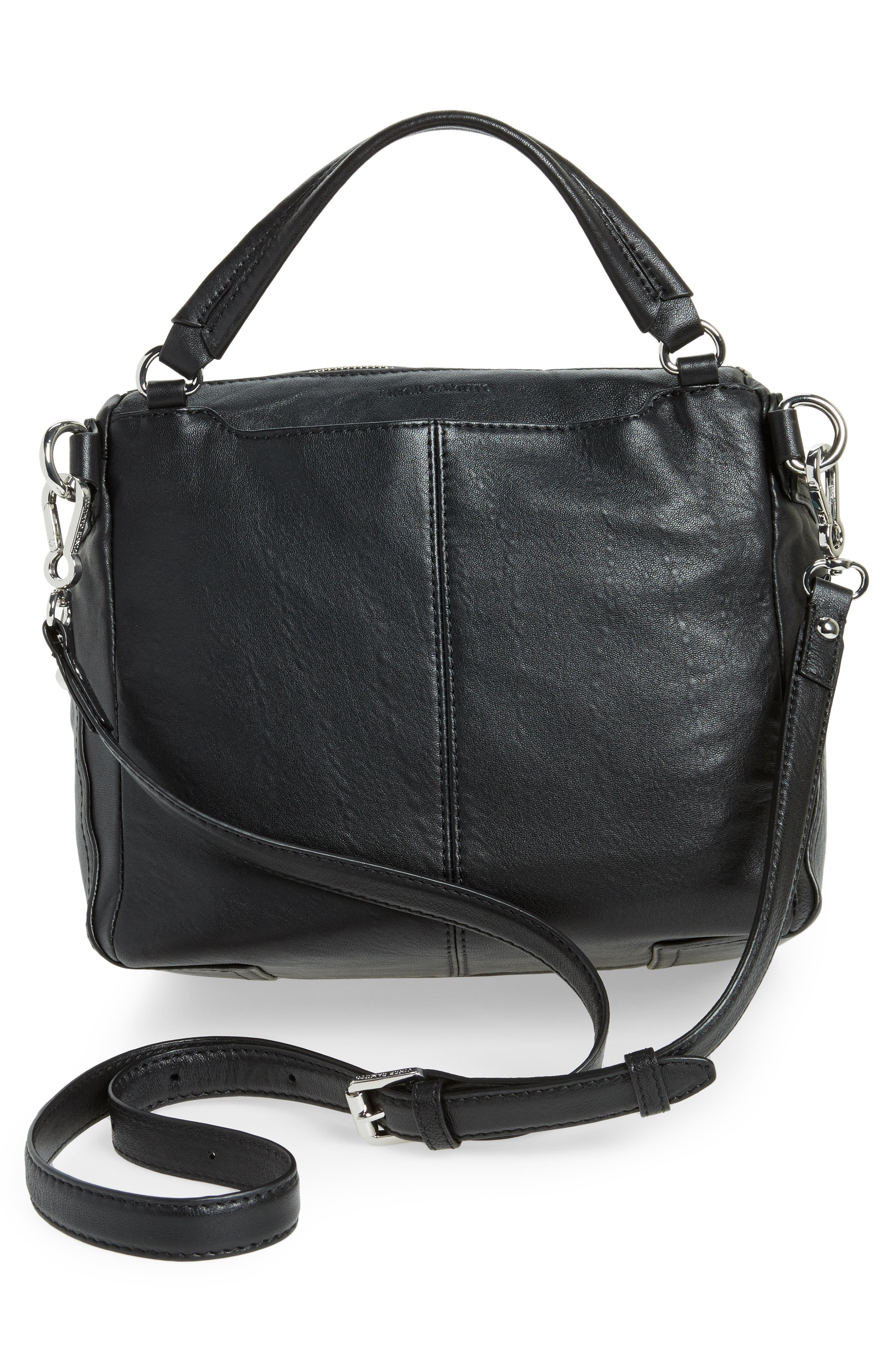 Large Patch Leather Crossbody Bag,                             Alternate thumbnail 8, color,