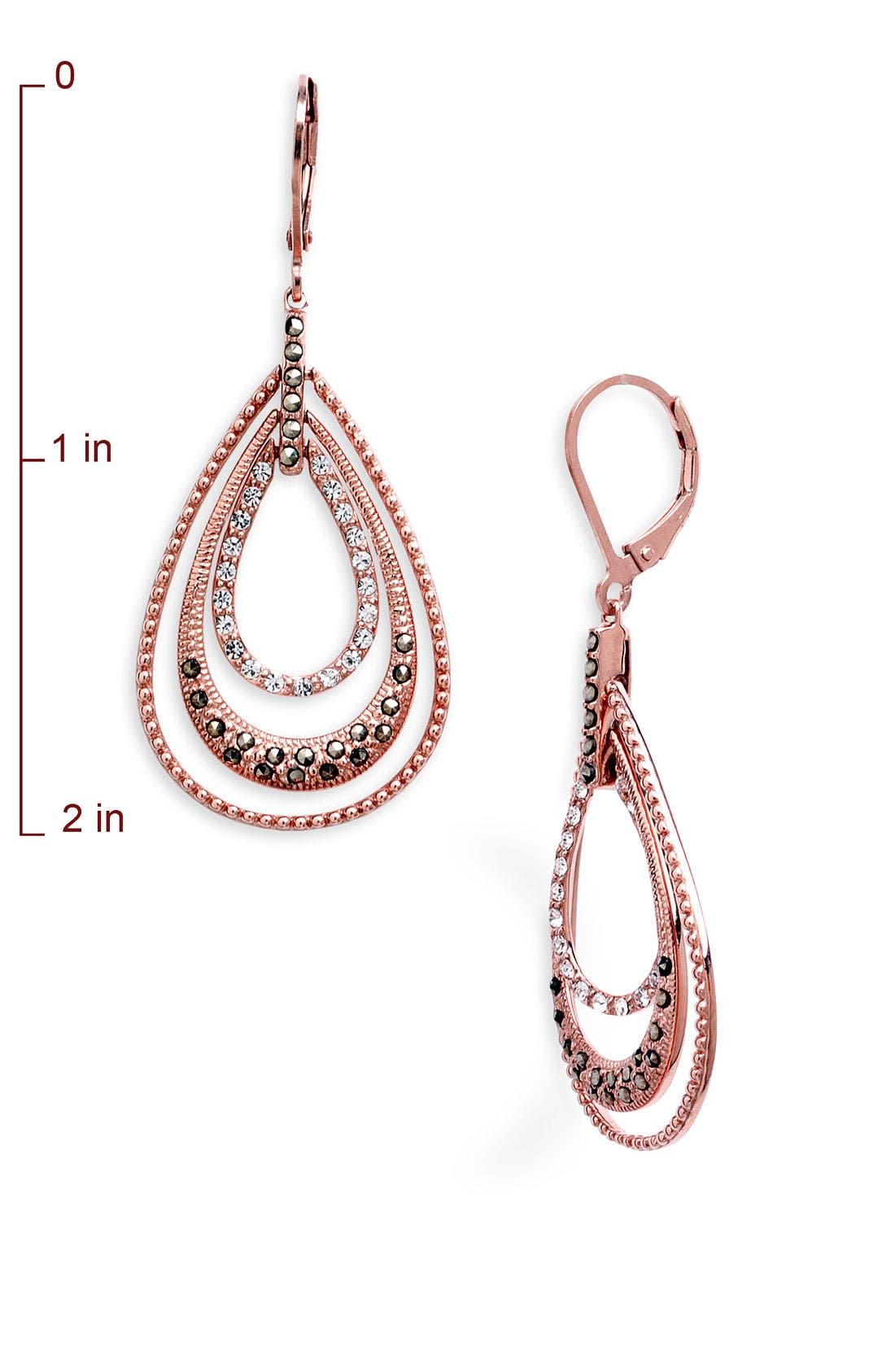 Orbital Triple Teardrop Hoop Earrings,                             Alternate thumbnail 6, color,