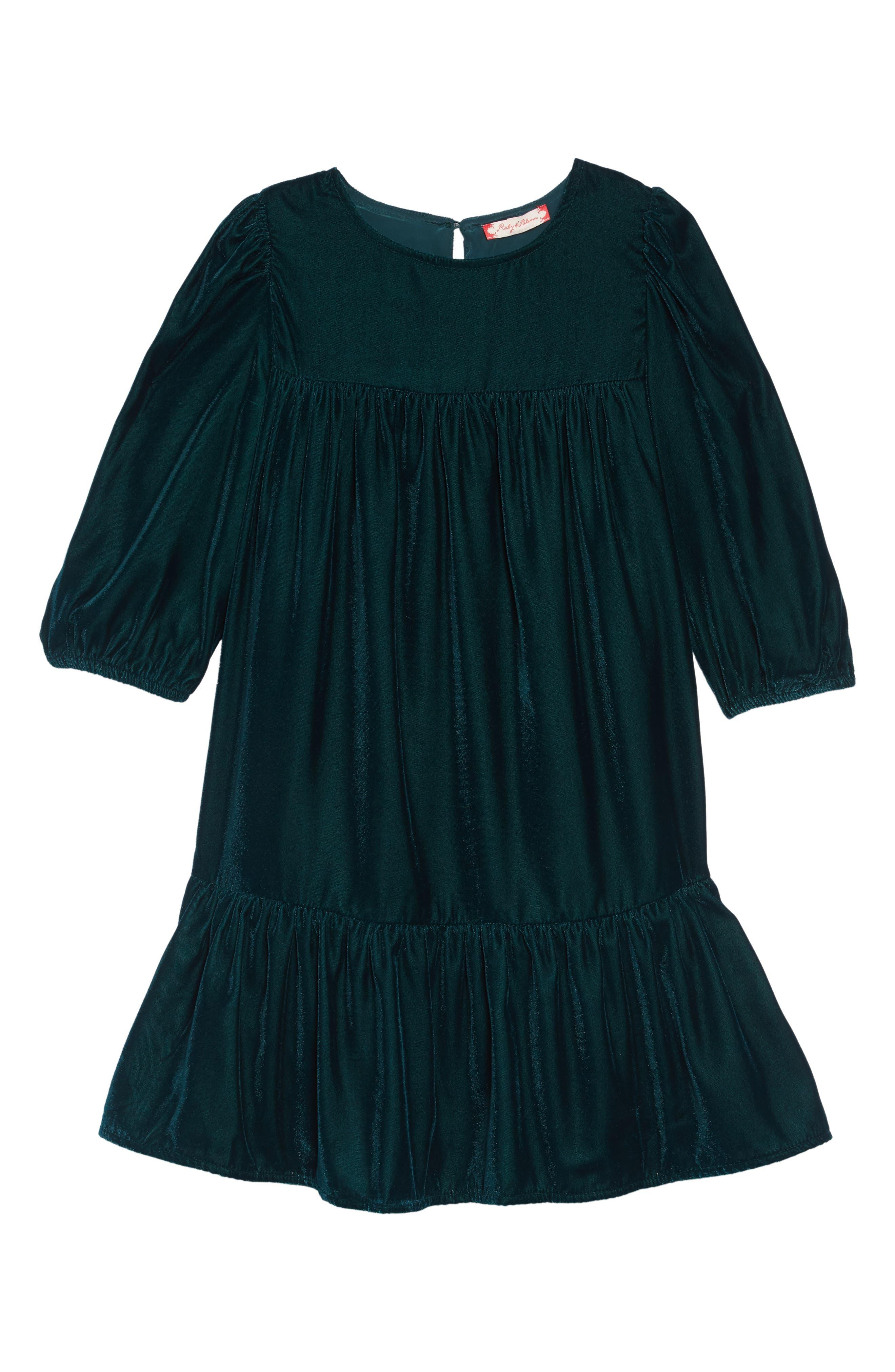 Velvet Party Dress,                             Main thumbnail 1, color,                             301