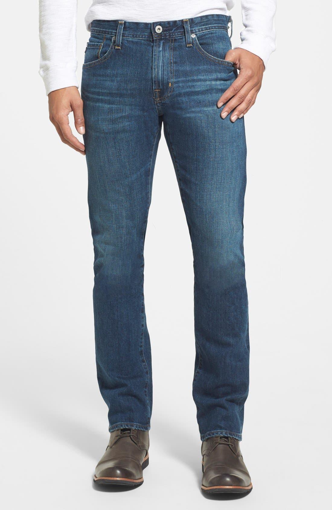 AG 'Matchbox' Slim Fit Jeans, Main, color, 400
