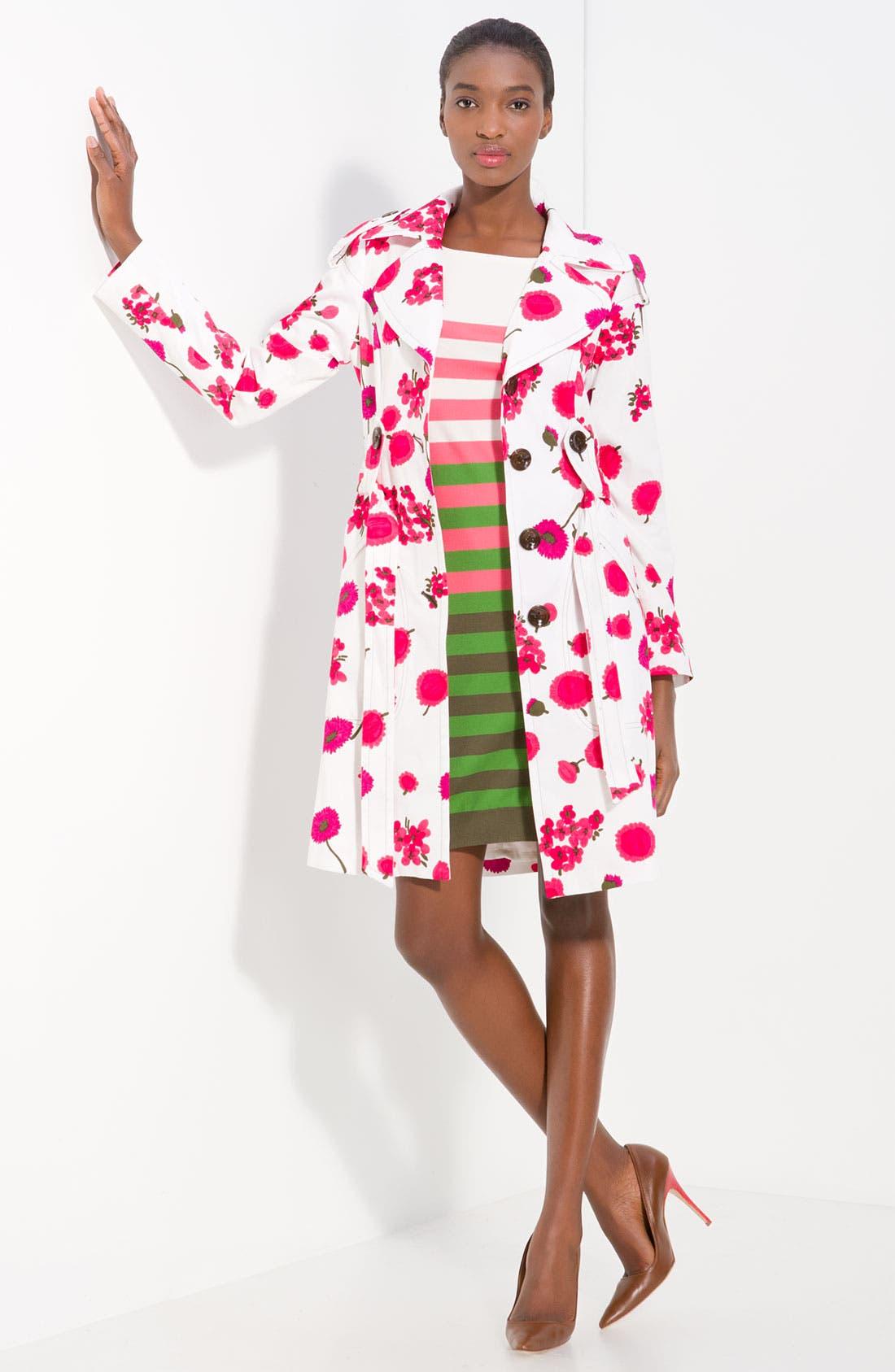 'Riley' Print Trench Coat, Main, color, 600