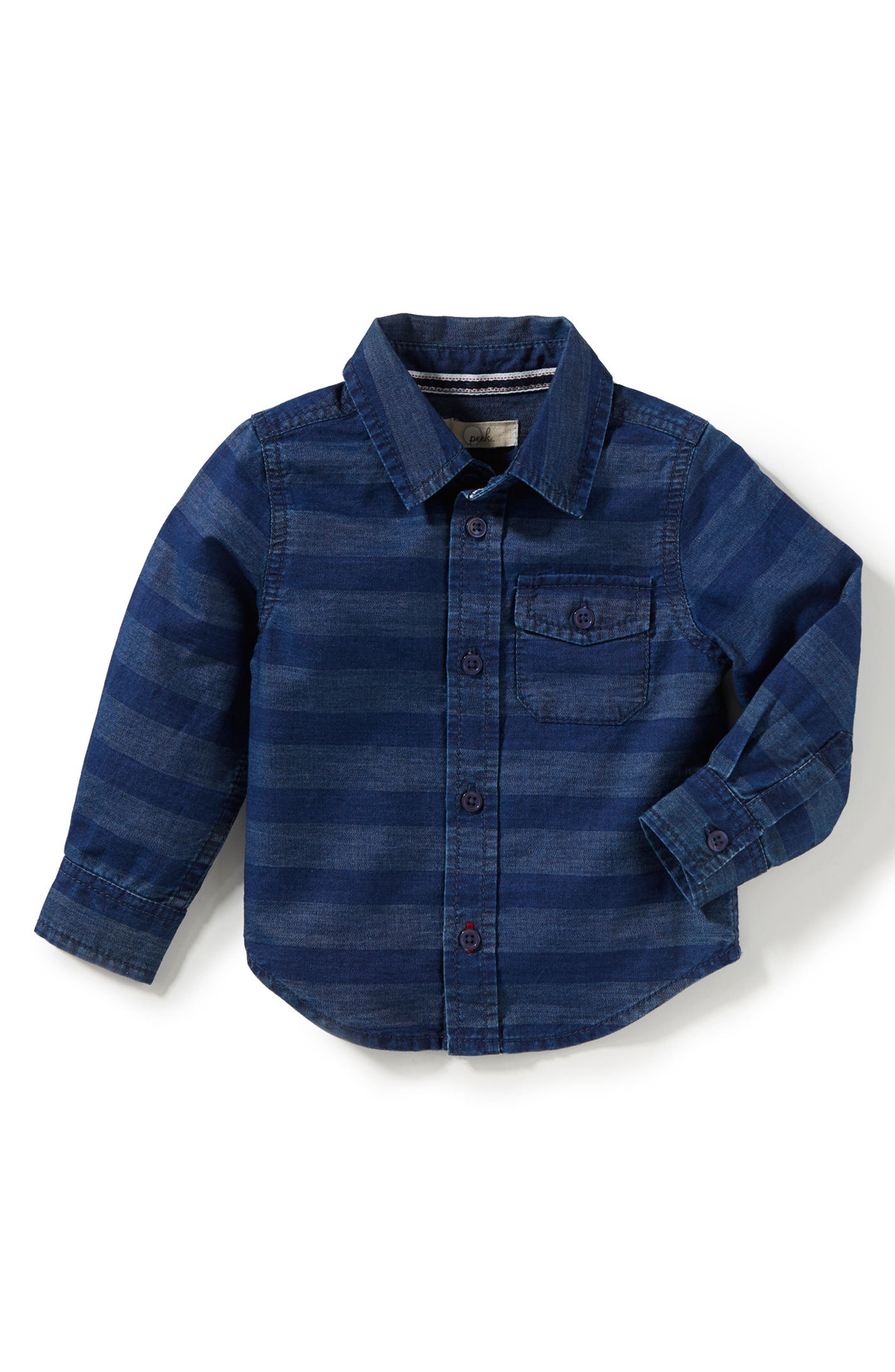 Aiden Stripe Chambray Shirt,                             Alternate thumbnail 2, color,                             402