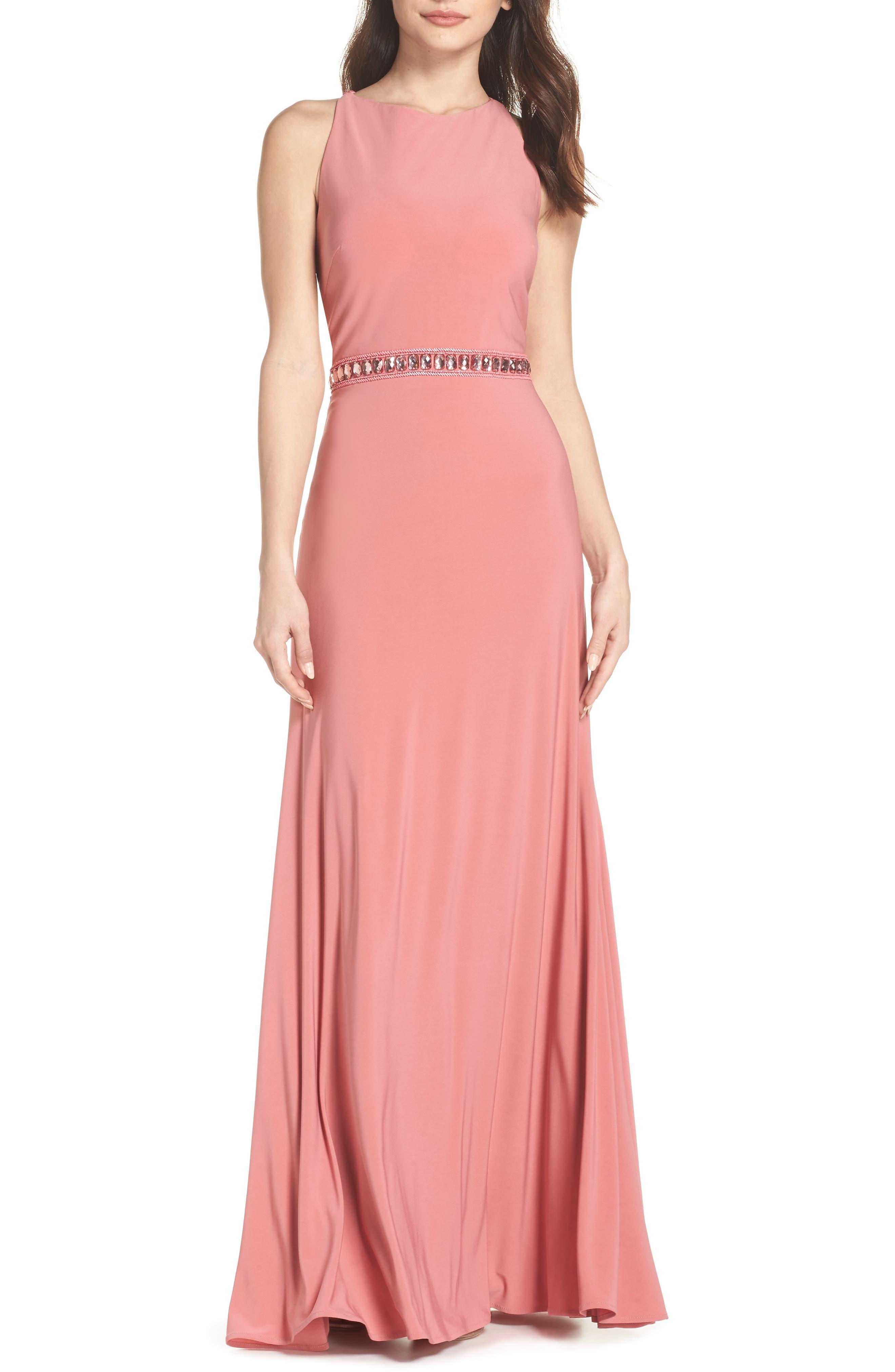 Sparkle Waist Gown,                             Main thumbnail 1, color,