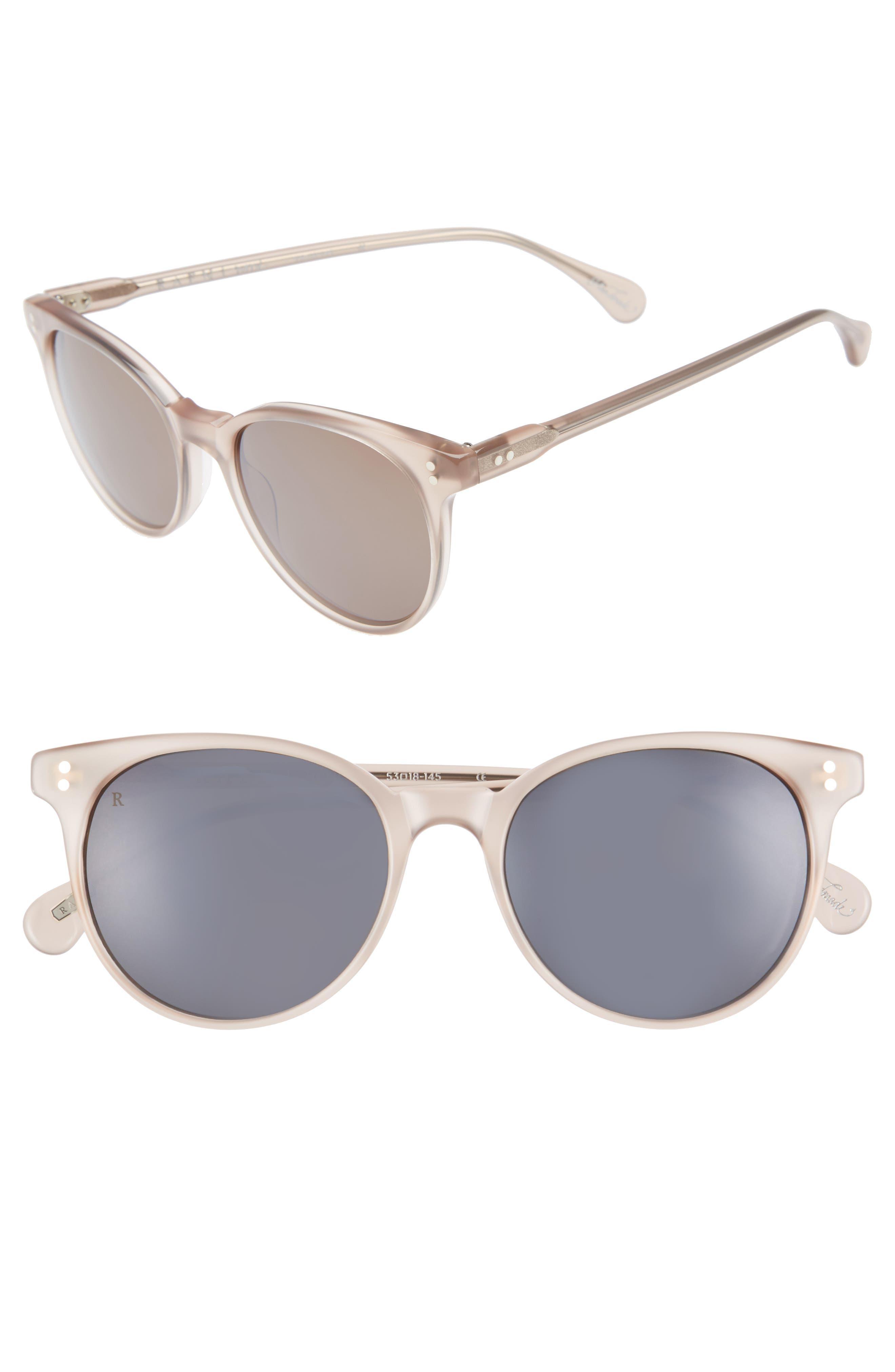 Norie 51mm Cat Eye Mirrored Lens Sunglasses,                         Main,                         color, FLESH