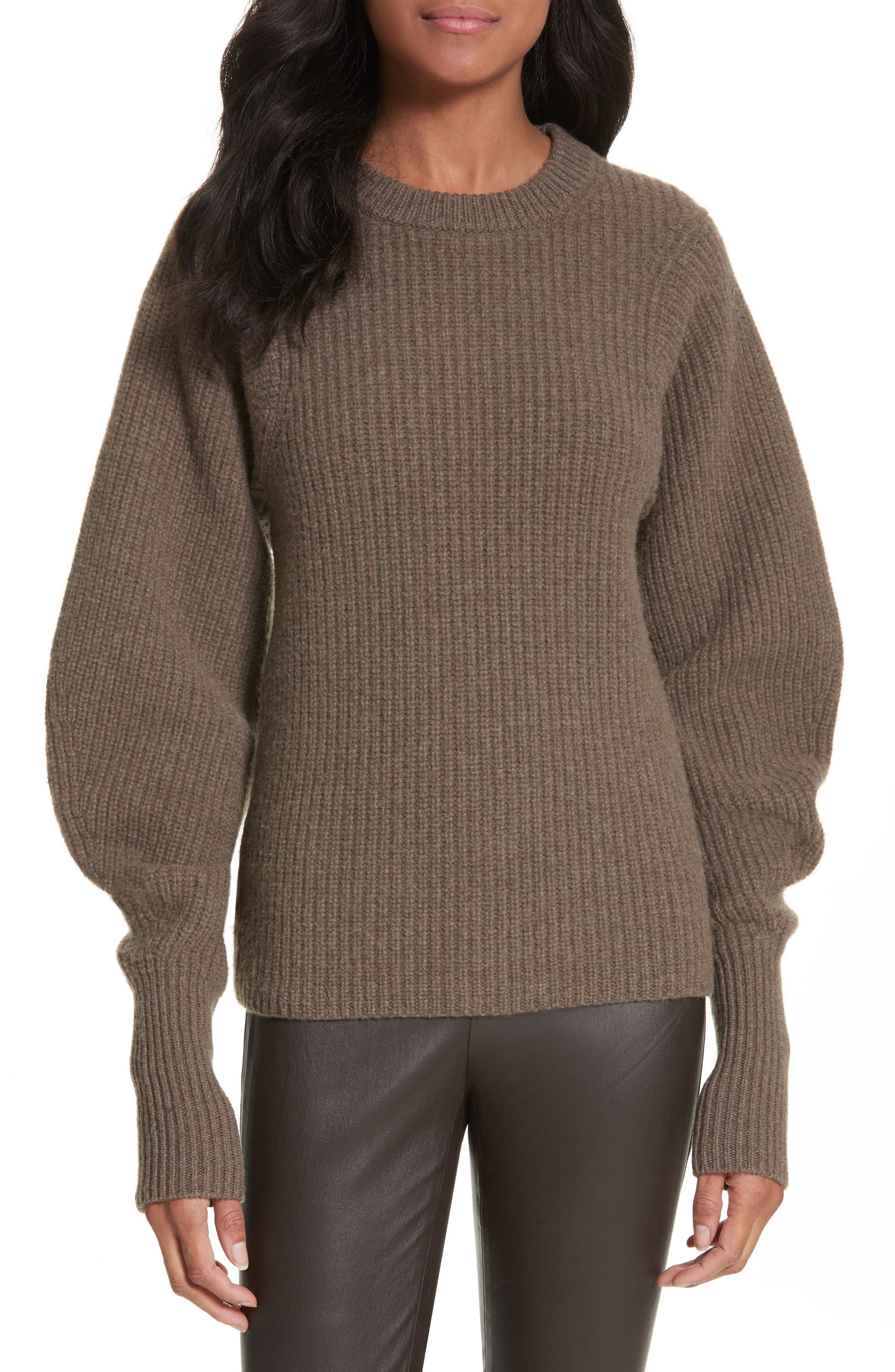 Blouson Sleeve Wool Sweater,                             Main thumbnail 1, color,                             346