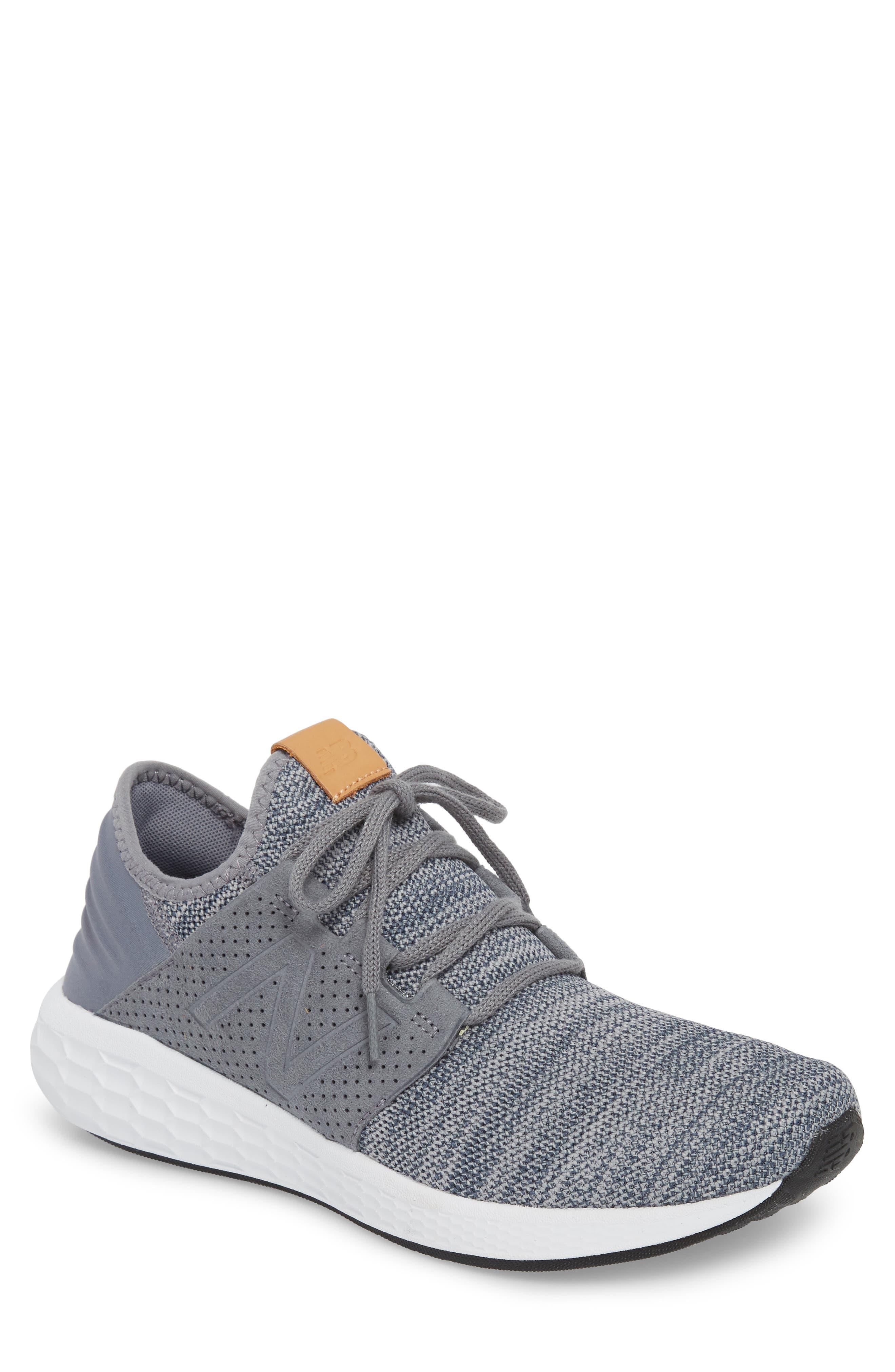 Fresh Foam Cruz v2 Knit Running Shoe,                             Main thumbnail 1, color,                             GUNMETAL