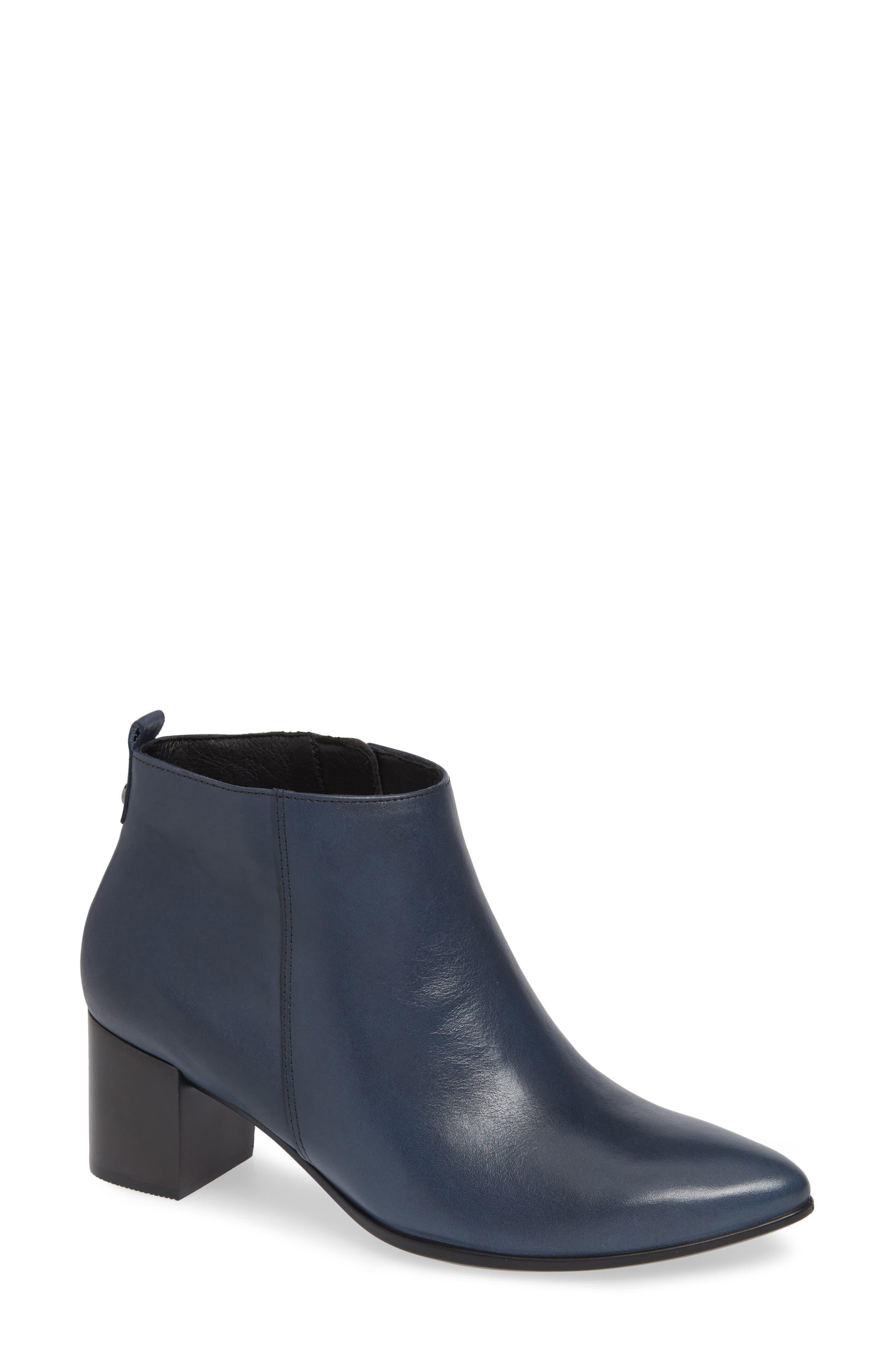 Ecco Shape 45 Block Heel Bootie, Blue