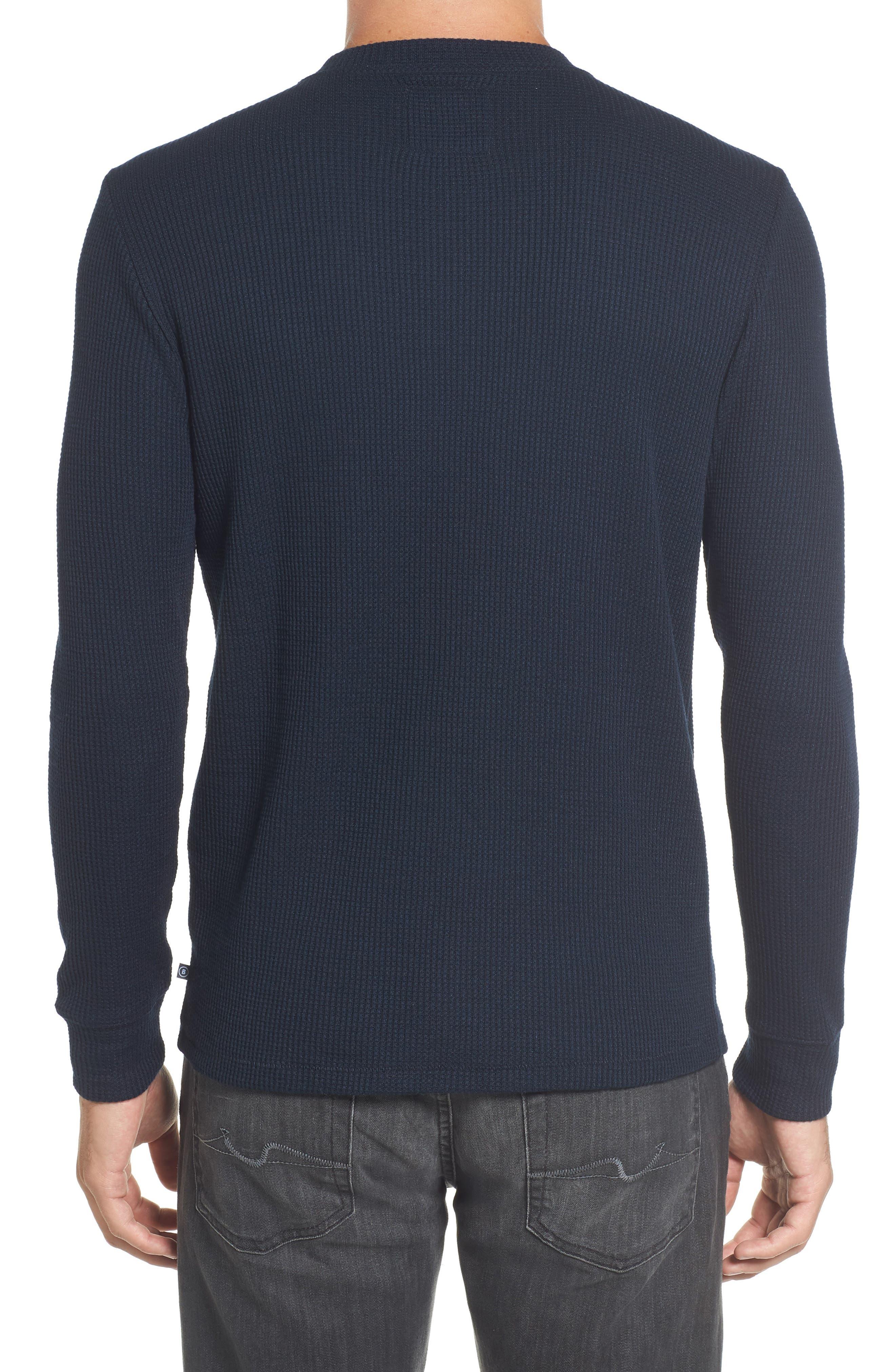 Slim Fit Long Sleeve Henley Shirt,                             Alternate thumbnail 5, color,