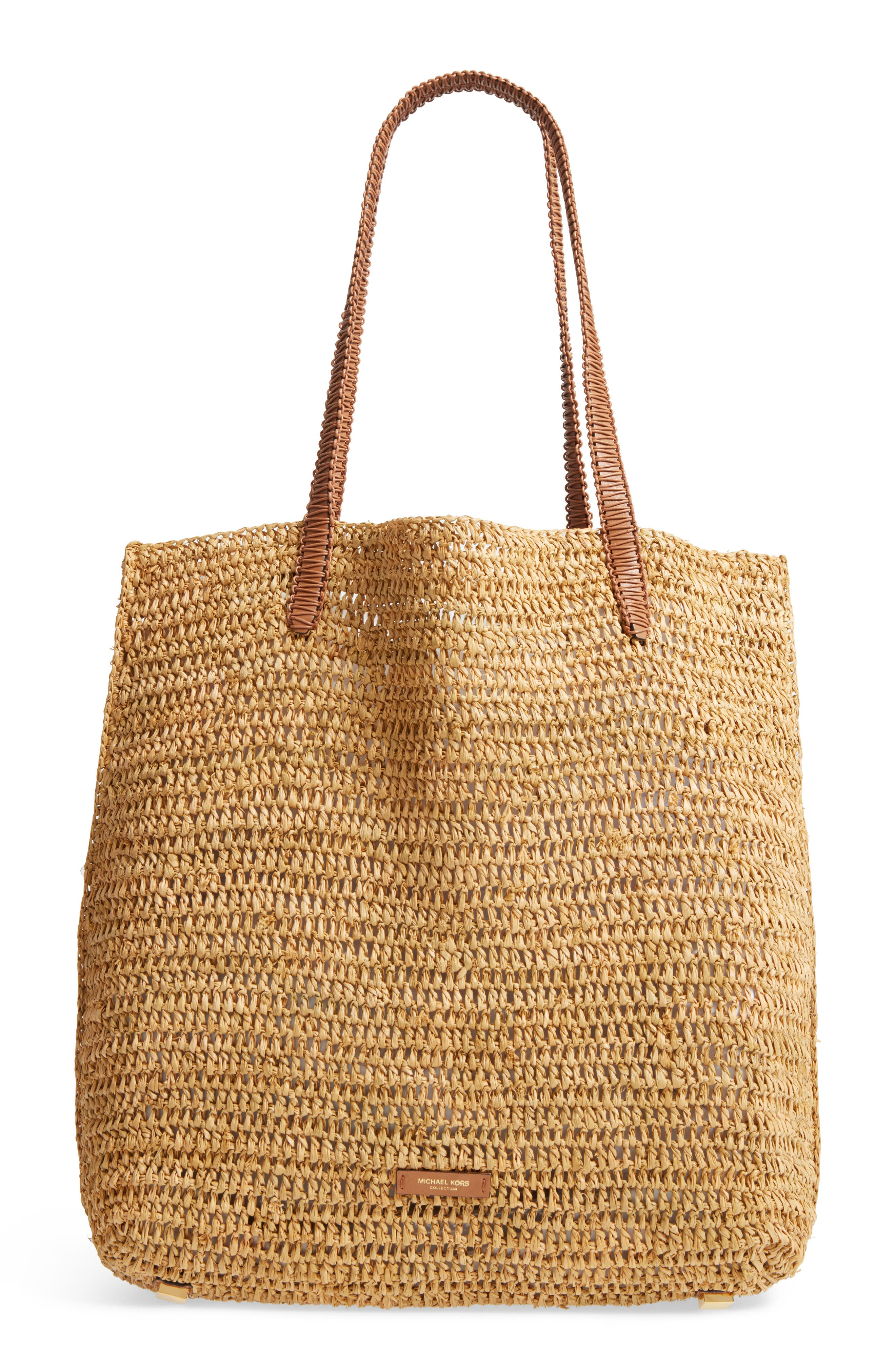 Skorpios Tassel Woven Straw Tote,                             Alternate thumbnail 3, color,                             201