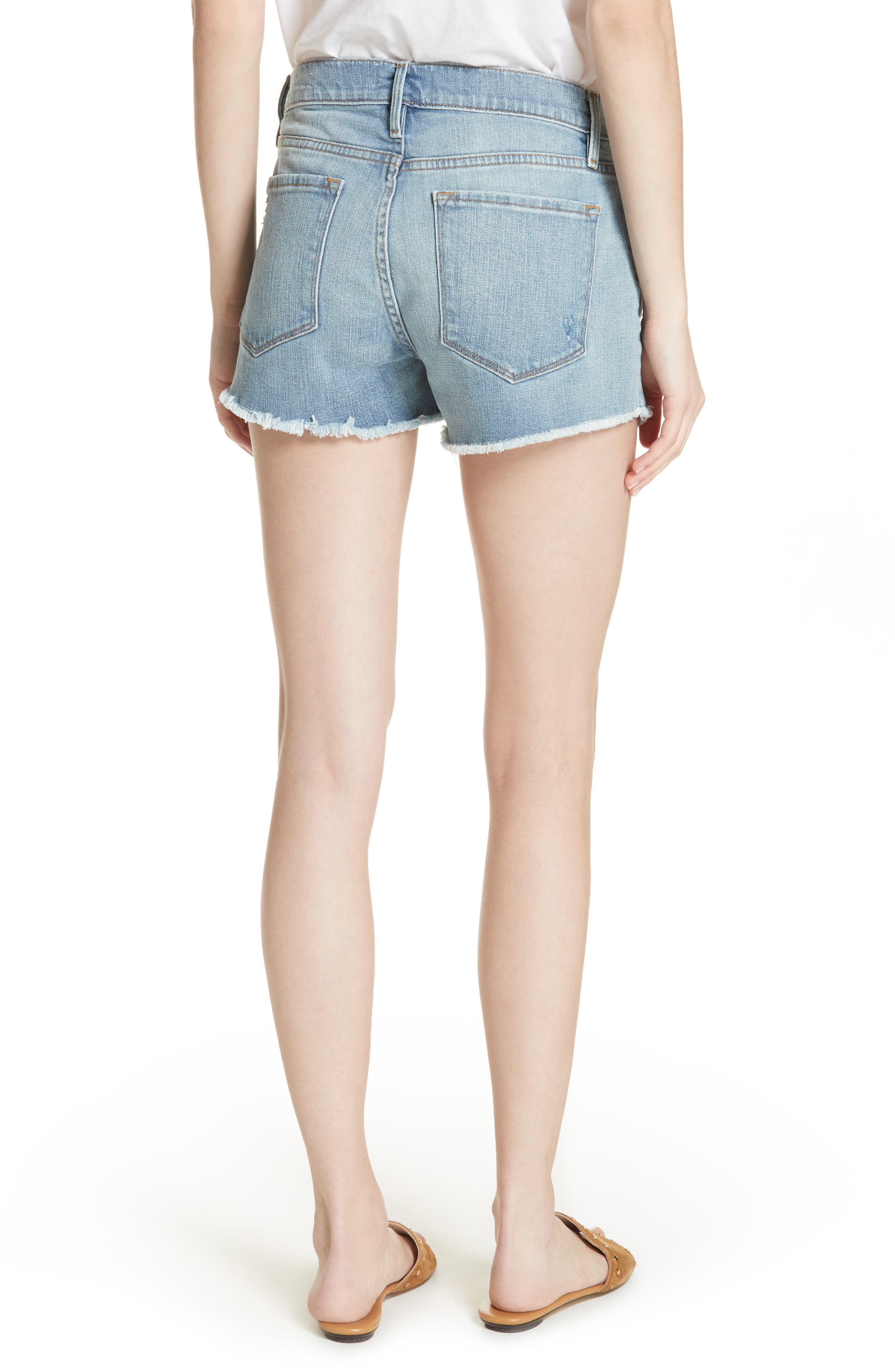 Le Cutoff Denim Shorts,                             Alternate thumbnail 2, color,                             TAFFORD