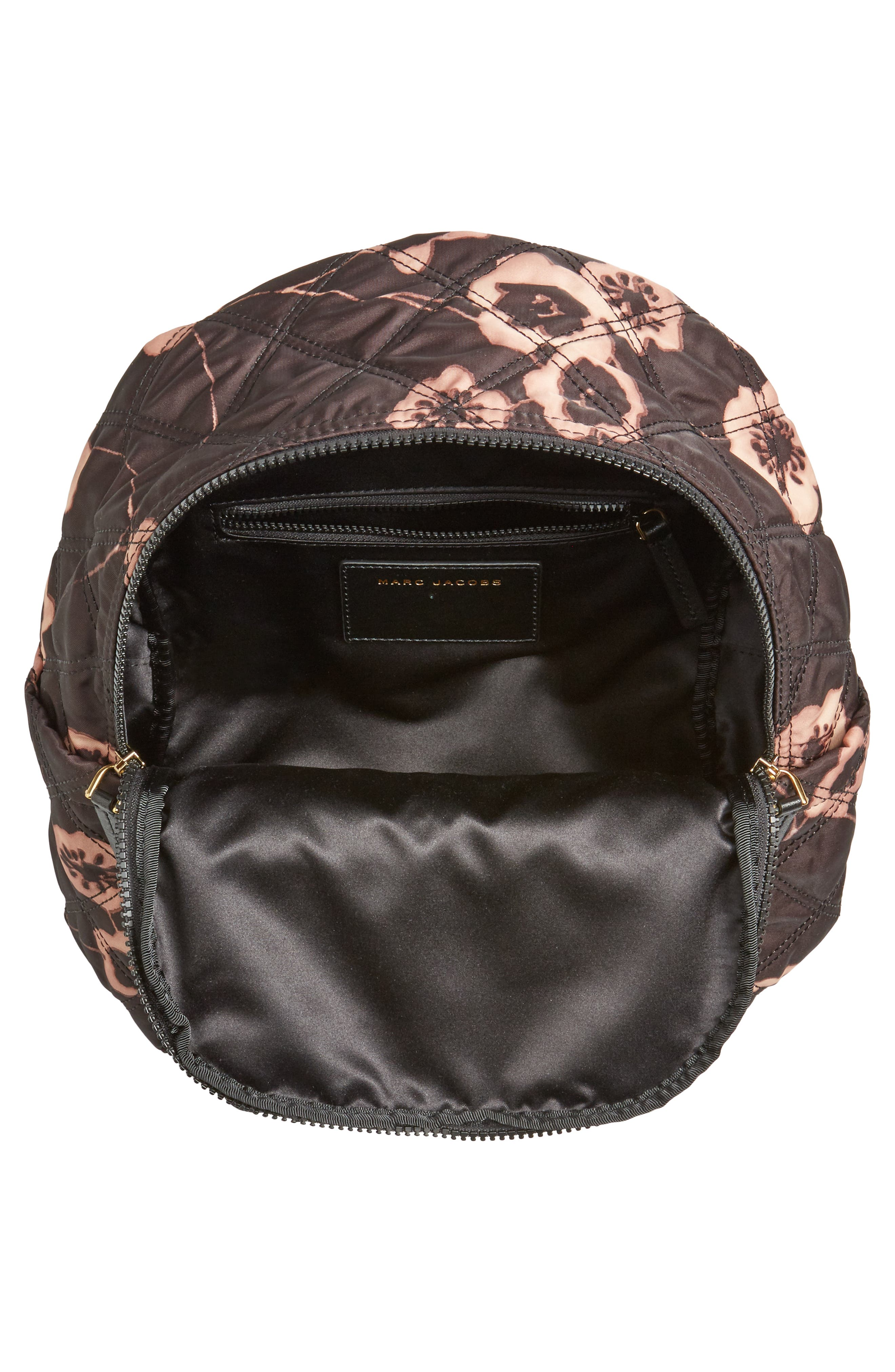 Small Violet Vines Knot Backpack,                             Alternate thumbnail 4, color,                             002