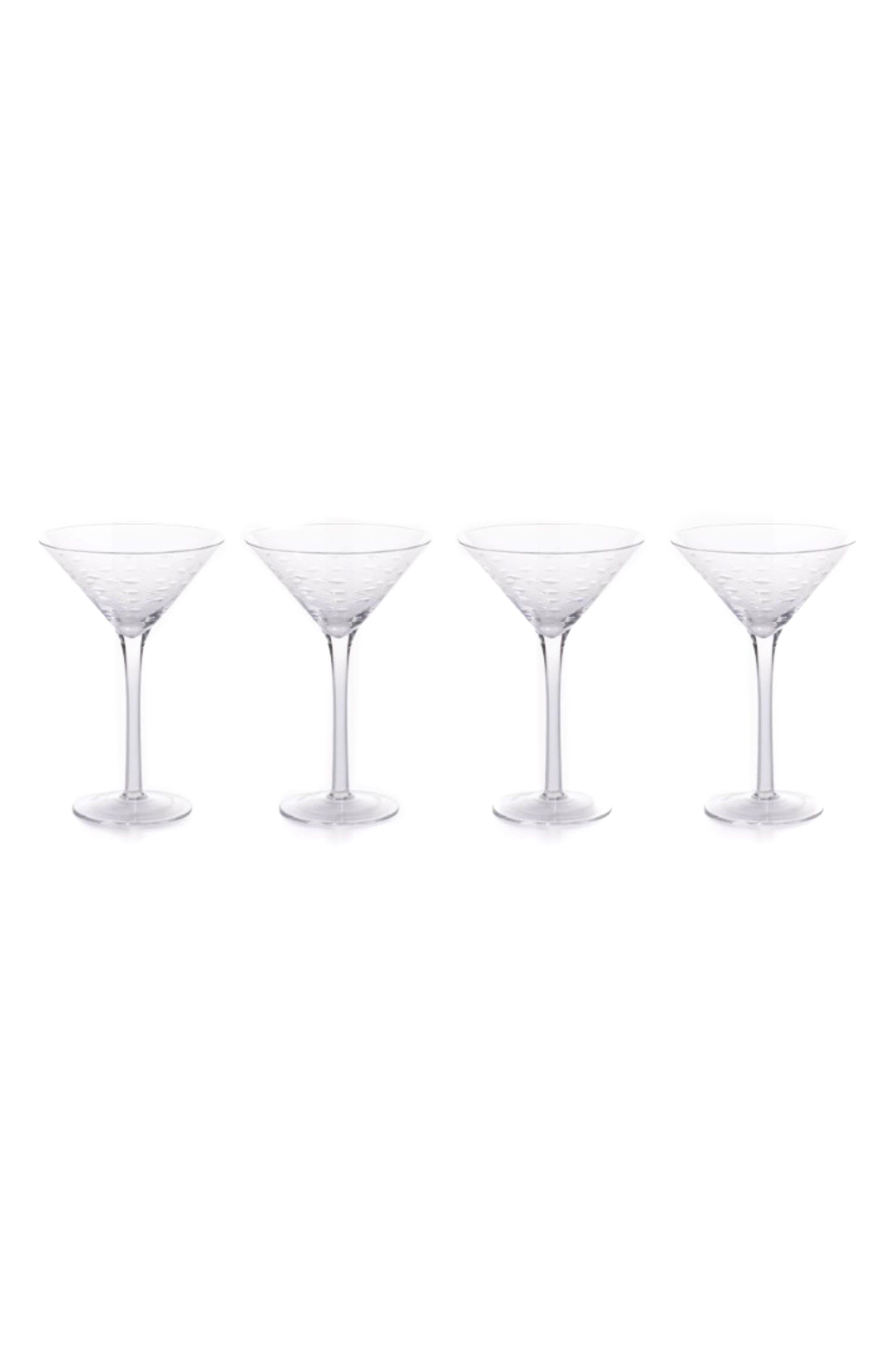 Keely Set of 4 Martini Glasses,                             Main thumbnail 1, color,                             100