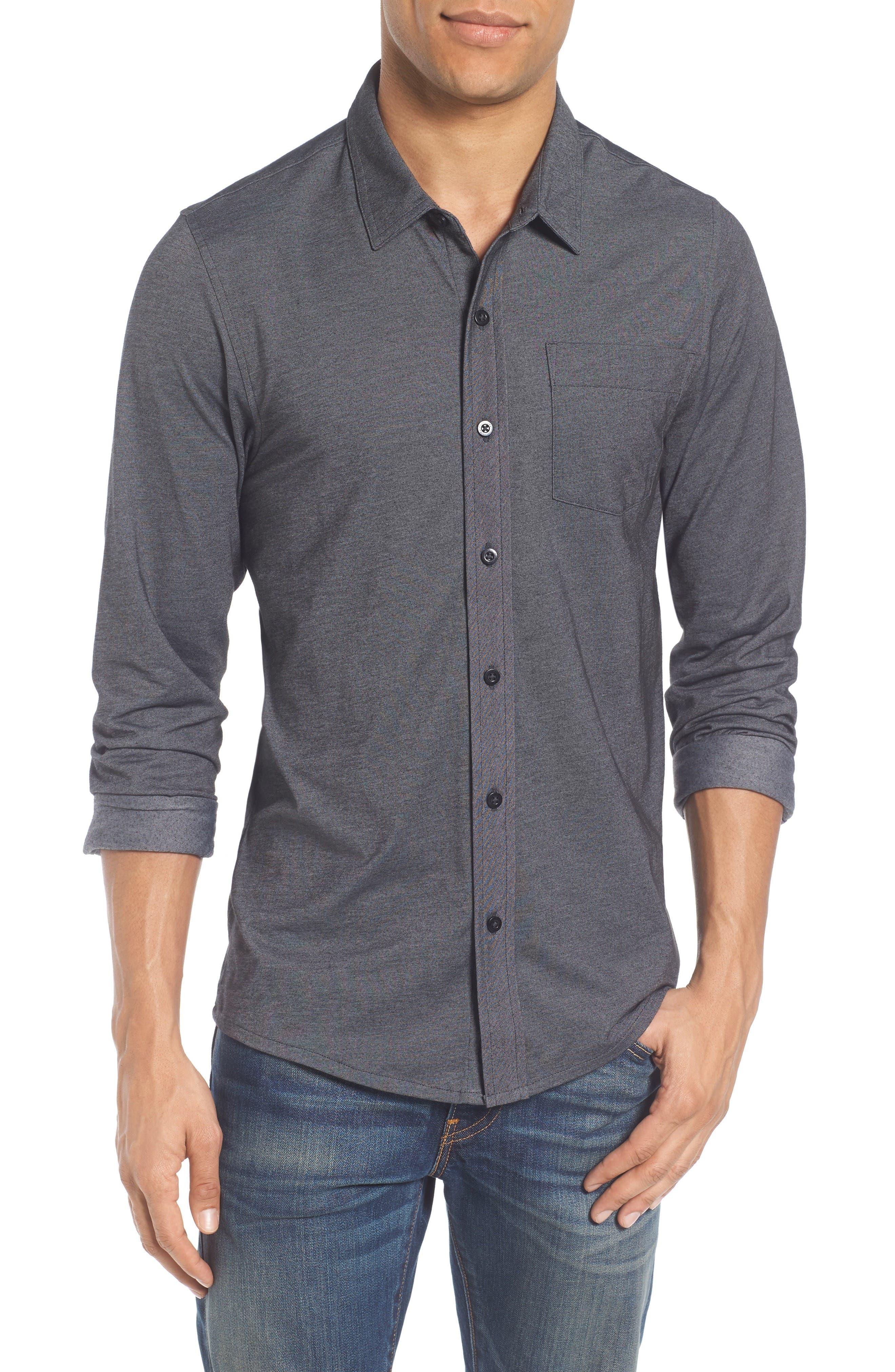 Trip'Slim Fit Wrinkle Free Sport Shirt,                         Main,                         color, 001