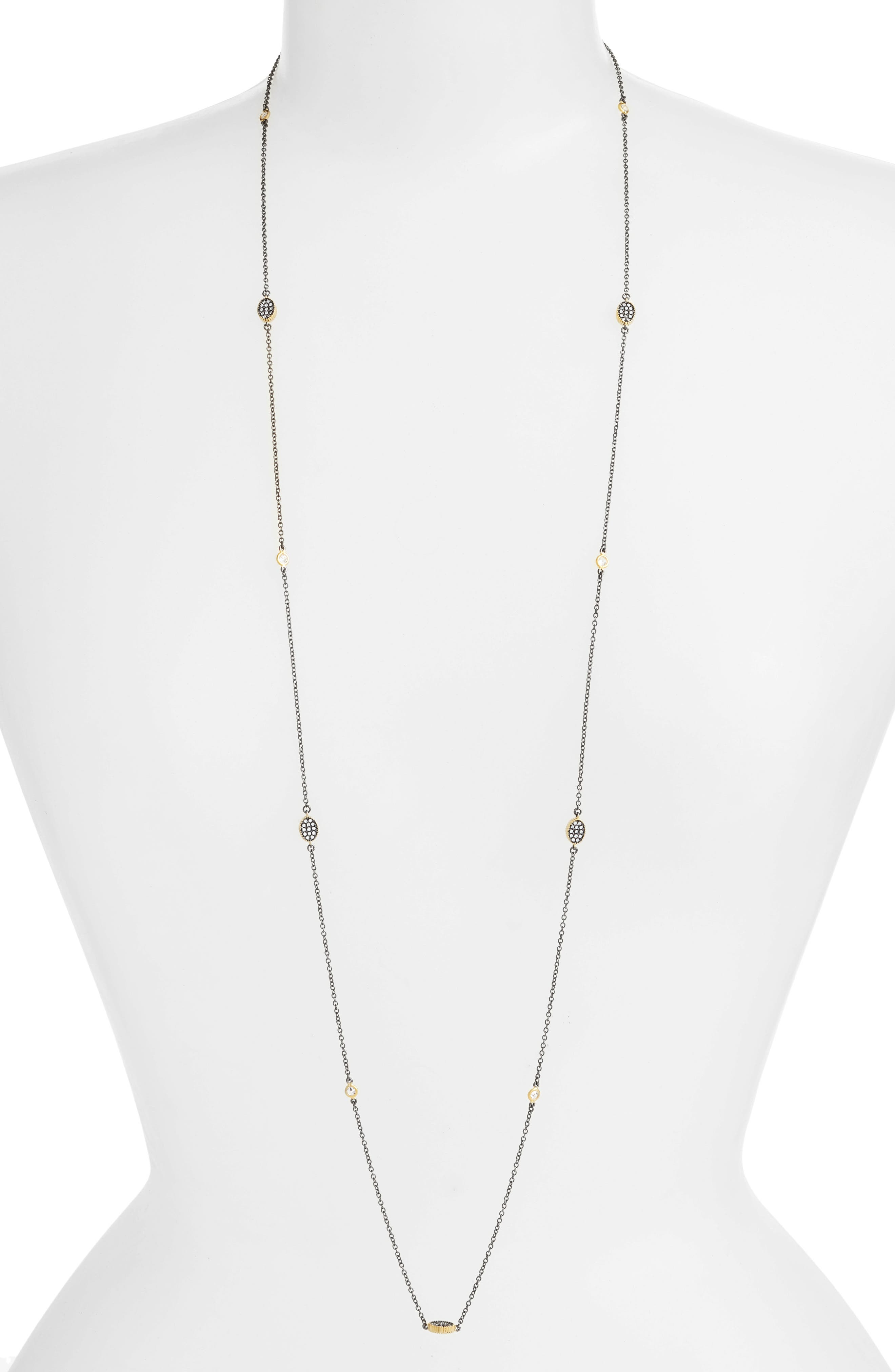 Oval Station Necklace,                         Main,                         color, 711