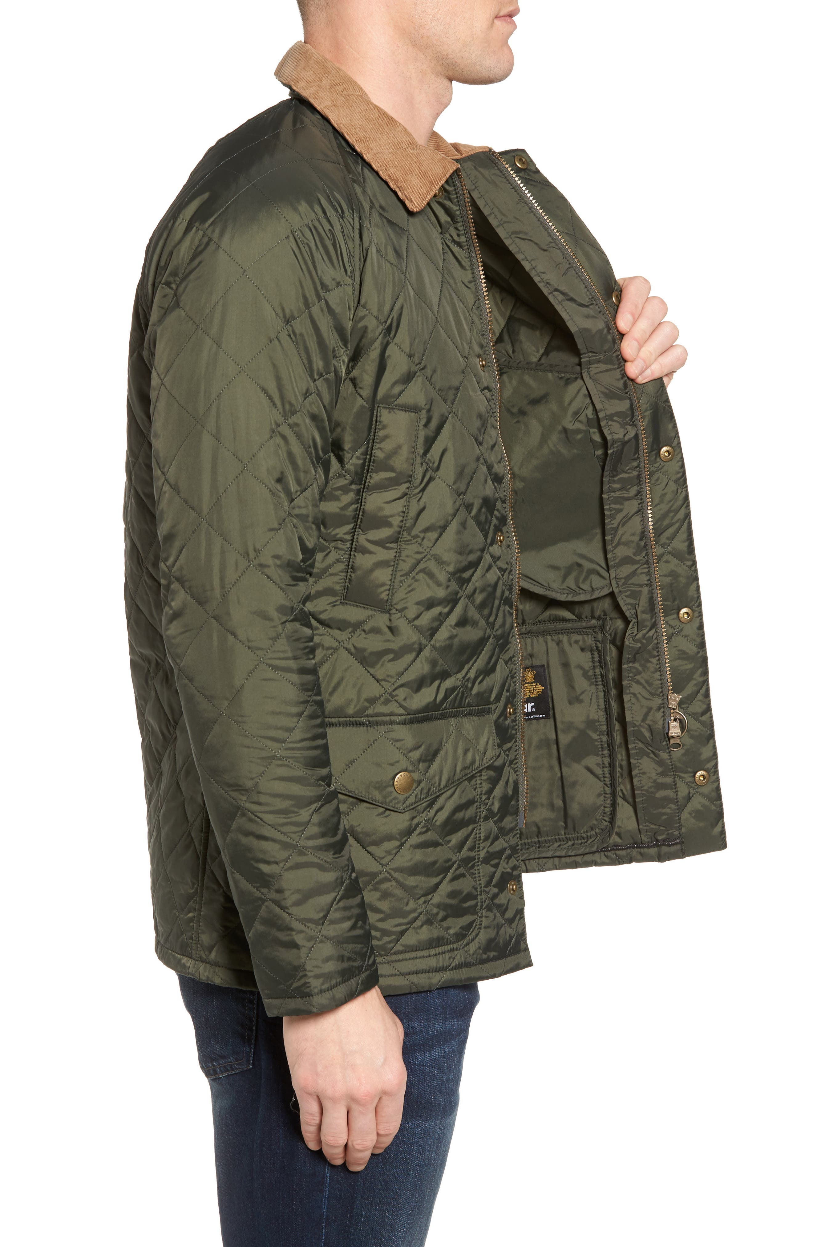 'Canterdale' Slim Fit Water-Resistant Diamond Quilted Jacket,                             Alternate thumbnail 4, color,                             305