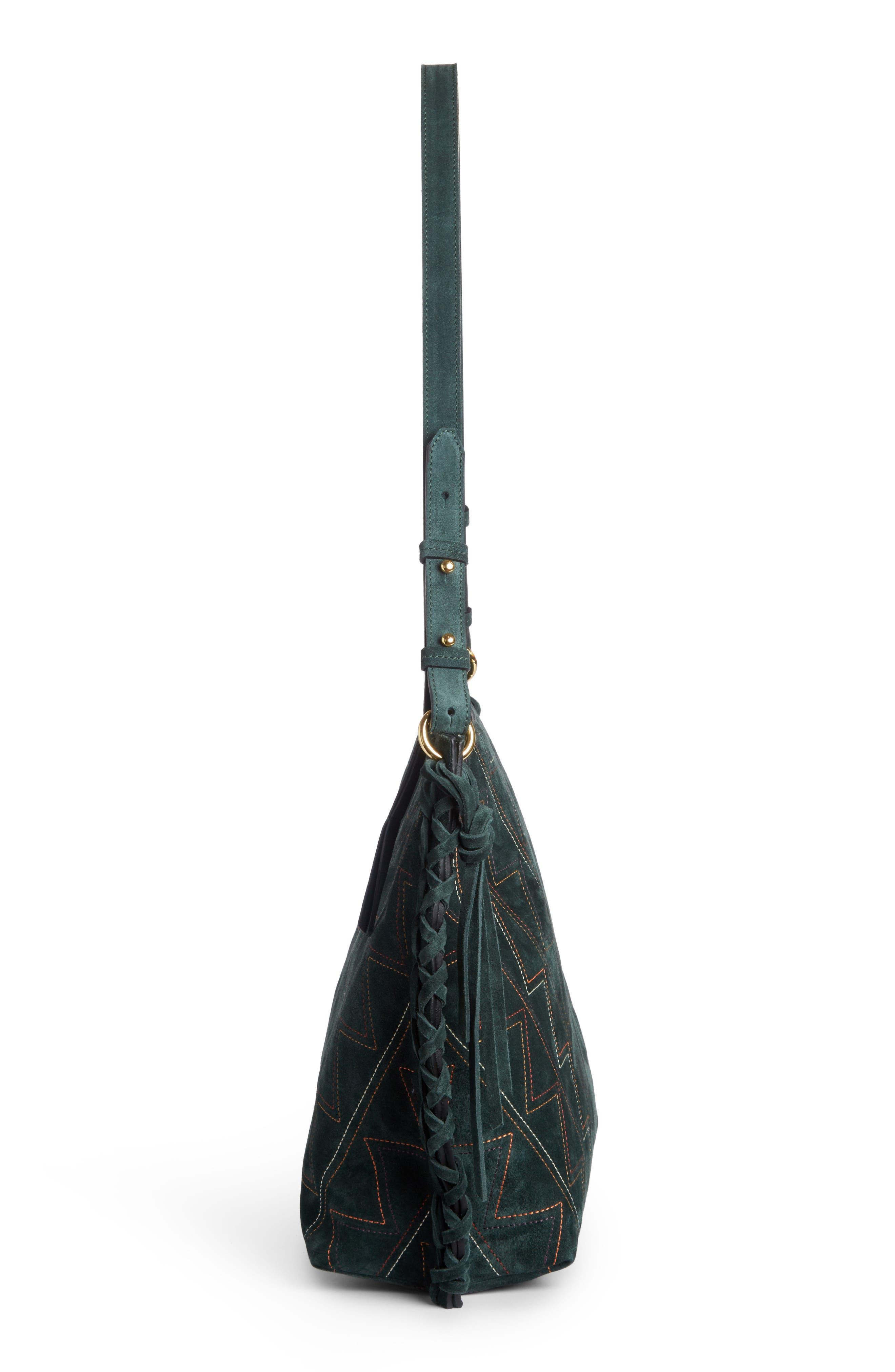 Osun Stitched Suede Shoulder Bag,                             Alternate thumbnail 3, color,                             301