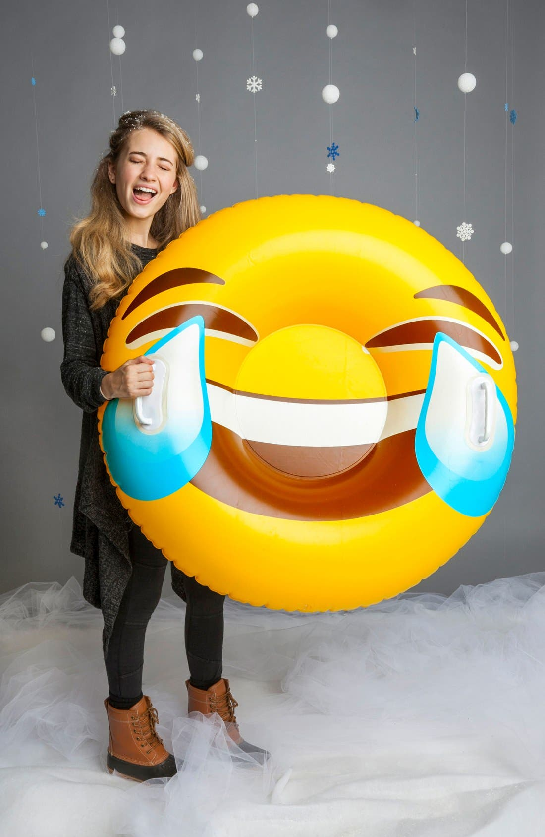 Giant Tears of Joy Emoji Snow Tube,                             Alternate thumbnail 2, color,                             750