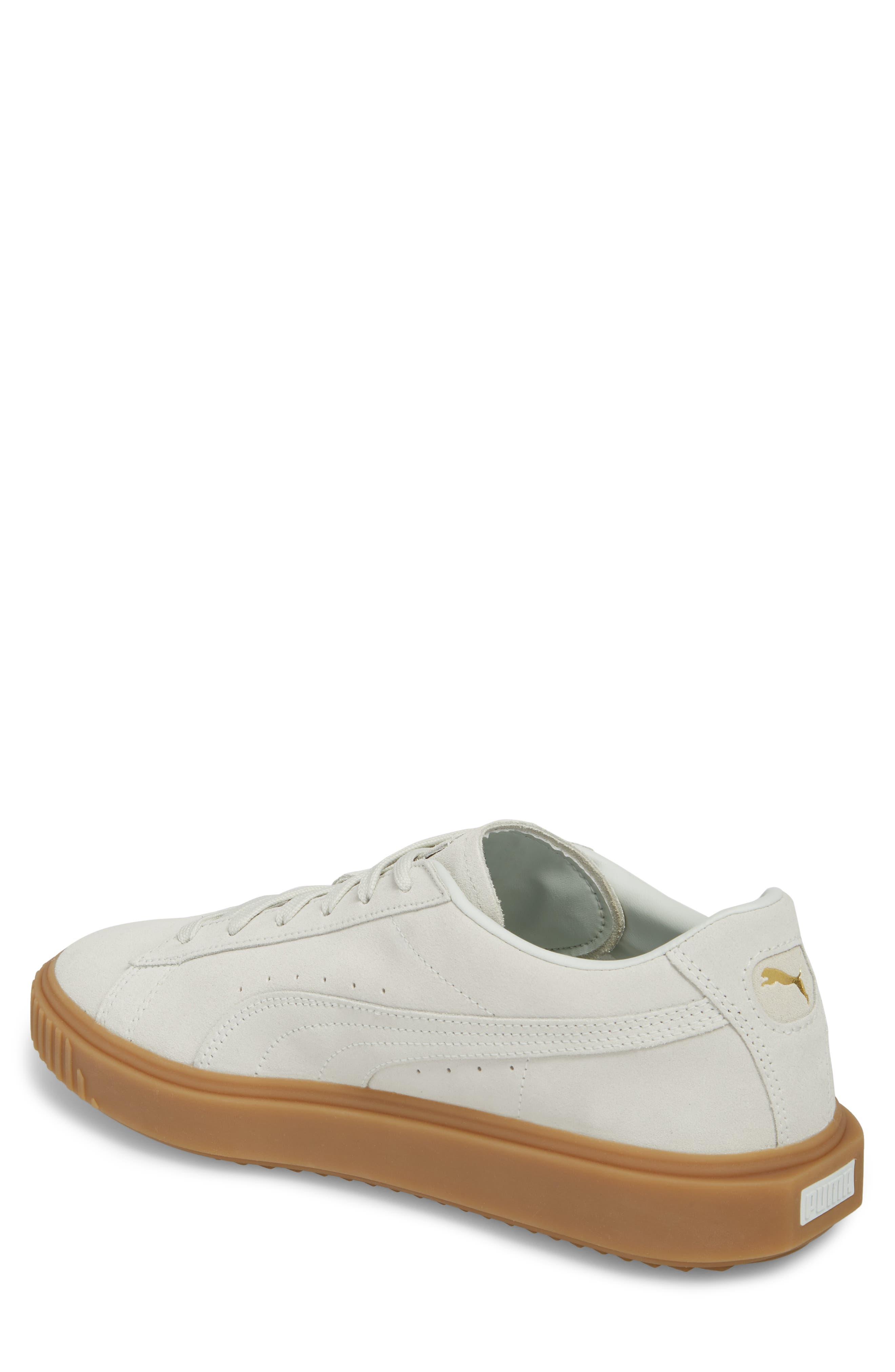 Breaker Suede Gum Low Top Sneaker,                             Alternate thumbnail 4, color,