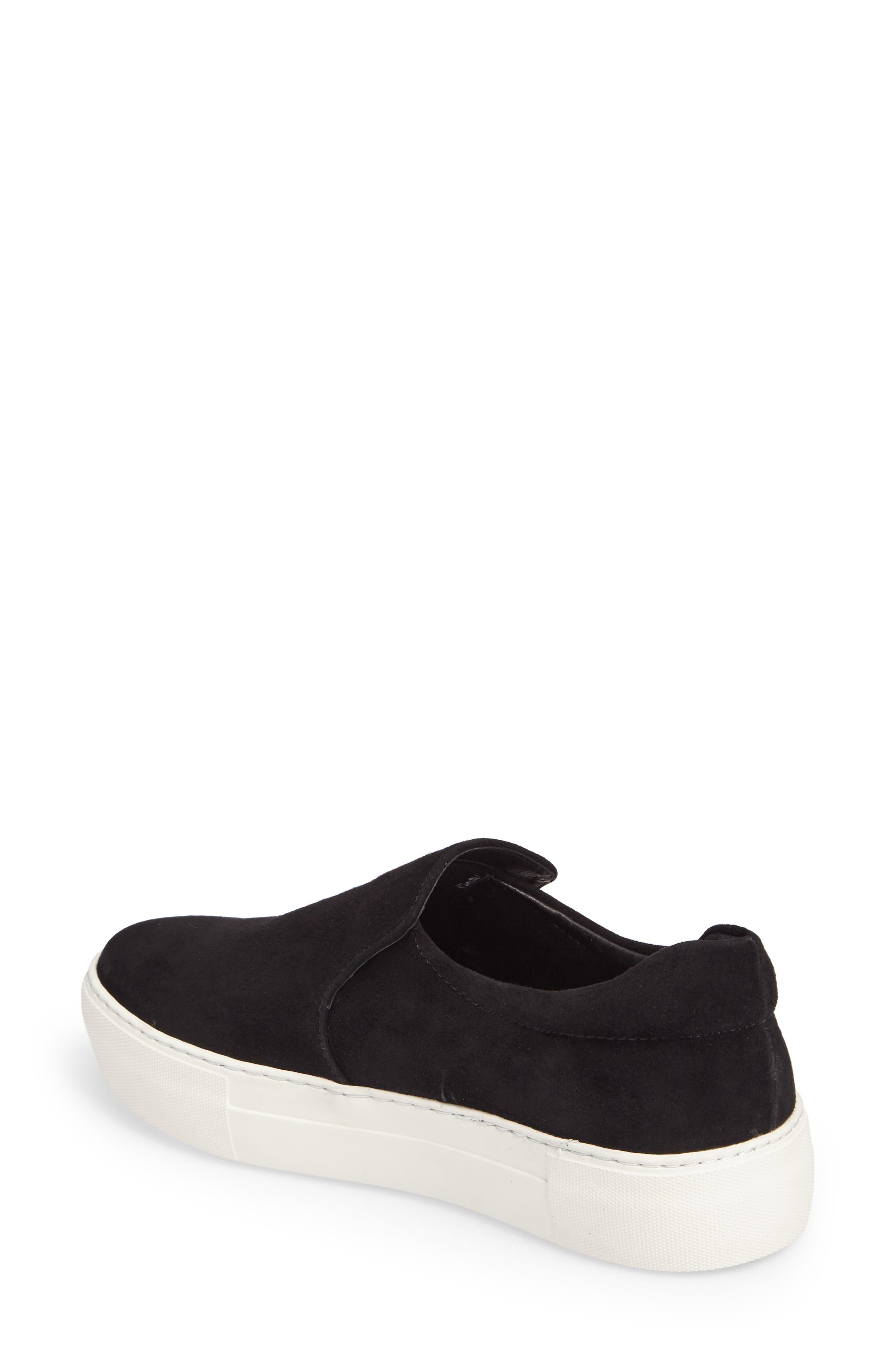 Acer Slip-On Sneaker,                             Alternate thumbnail 2, color,                             BLACK SUEDE
