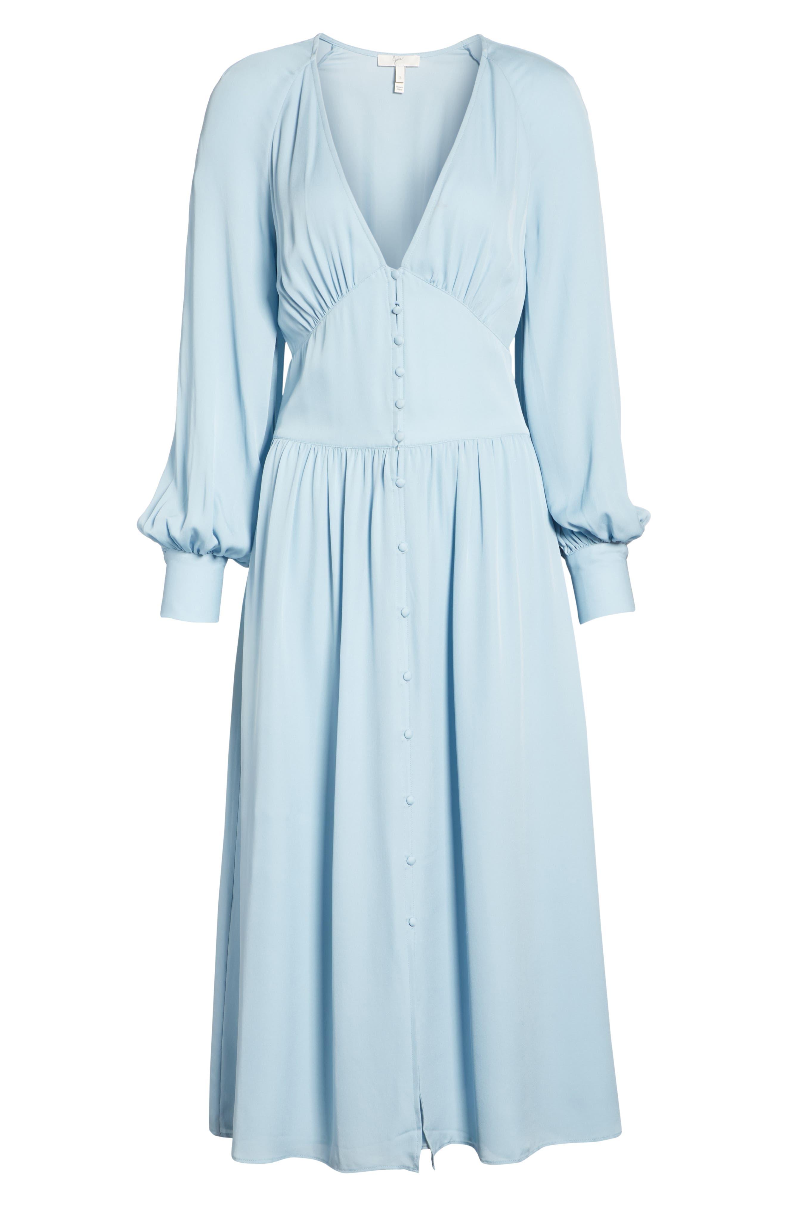 Kyria Silk Midi Dress,                             Alternate thumbnail 7, color,                             400