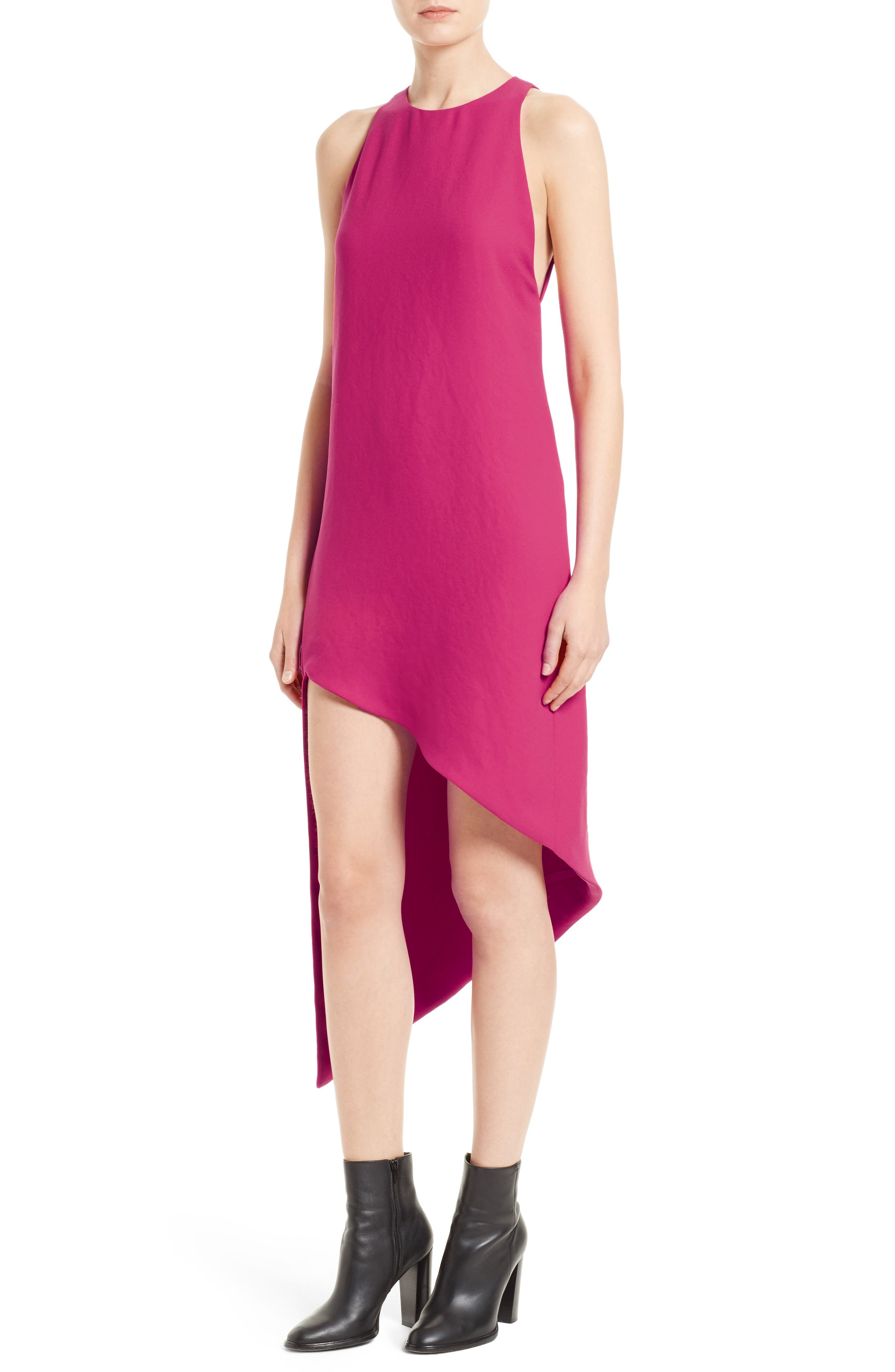 Hamlin Asymmetrical High/Low Dress,                             Alternate thumbnail 4, color,                             652