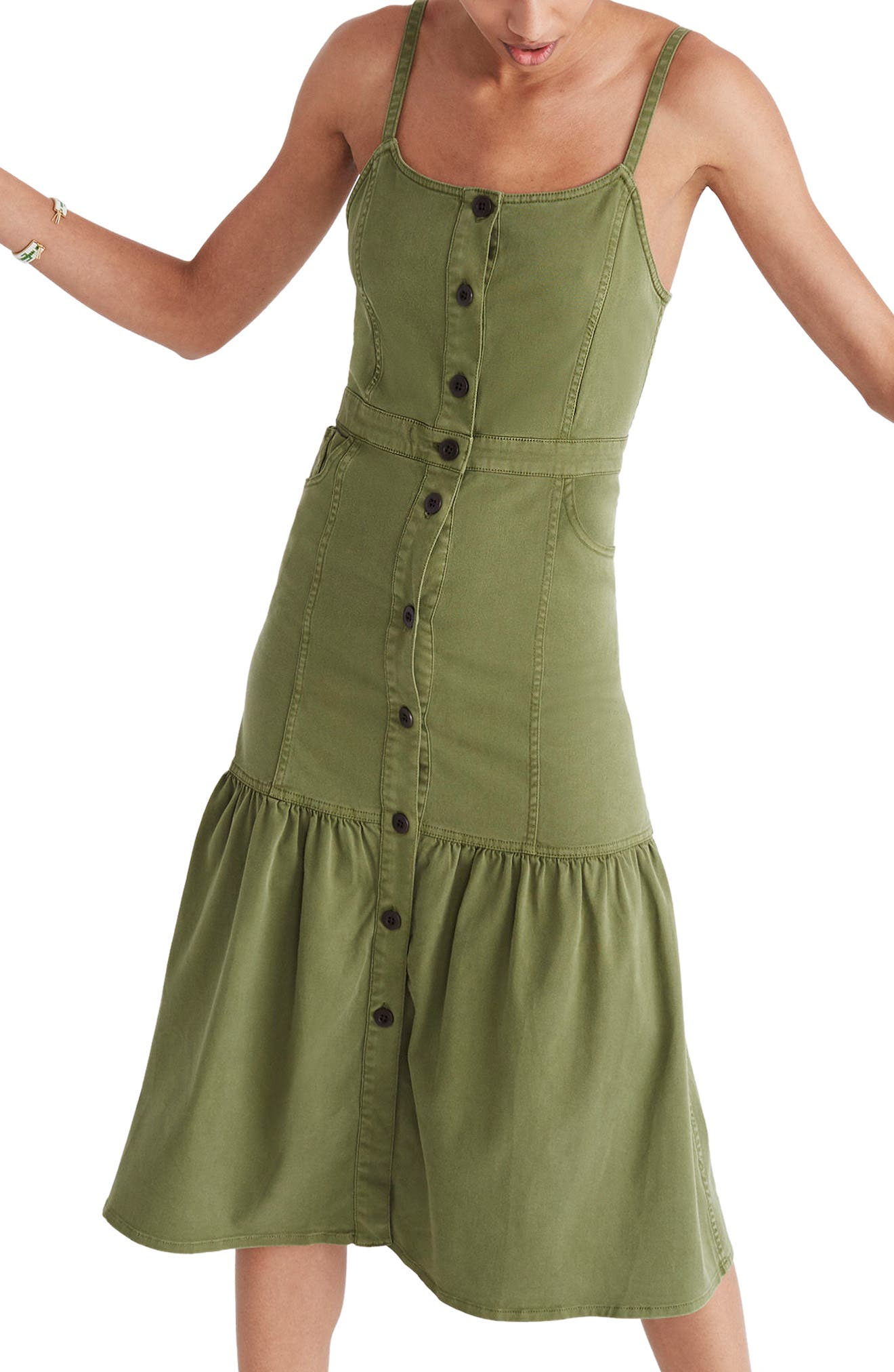 Bayview Tiered Midi Dress,                         Main,                         color, 300
