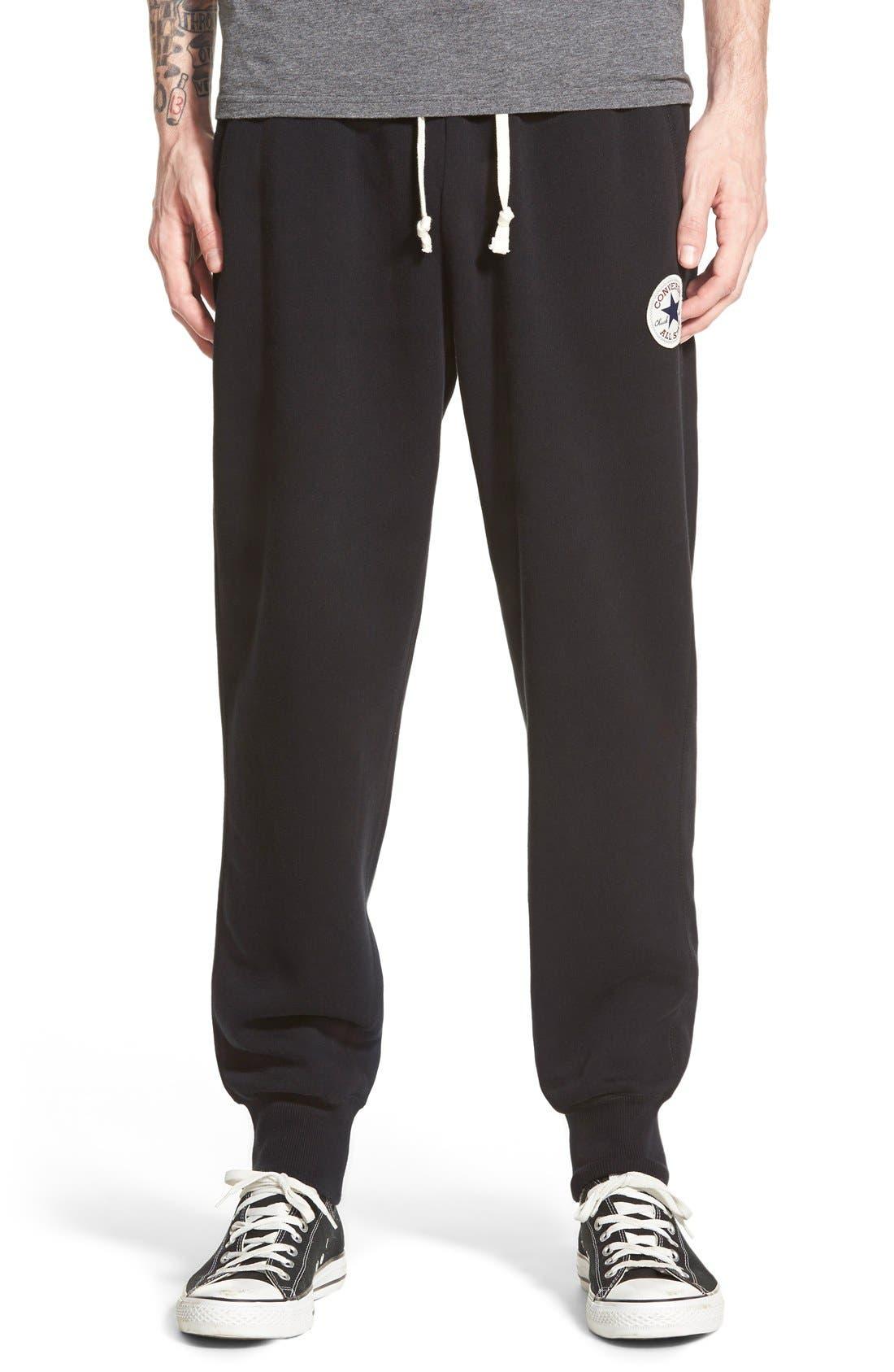 CONVERSE 'Core' Sweatpants, Main, color, 003