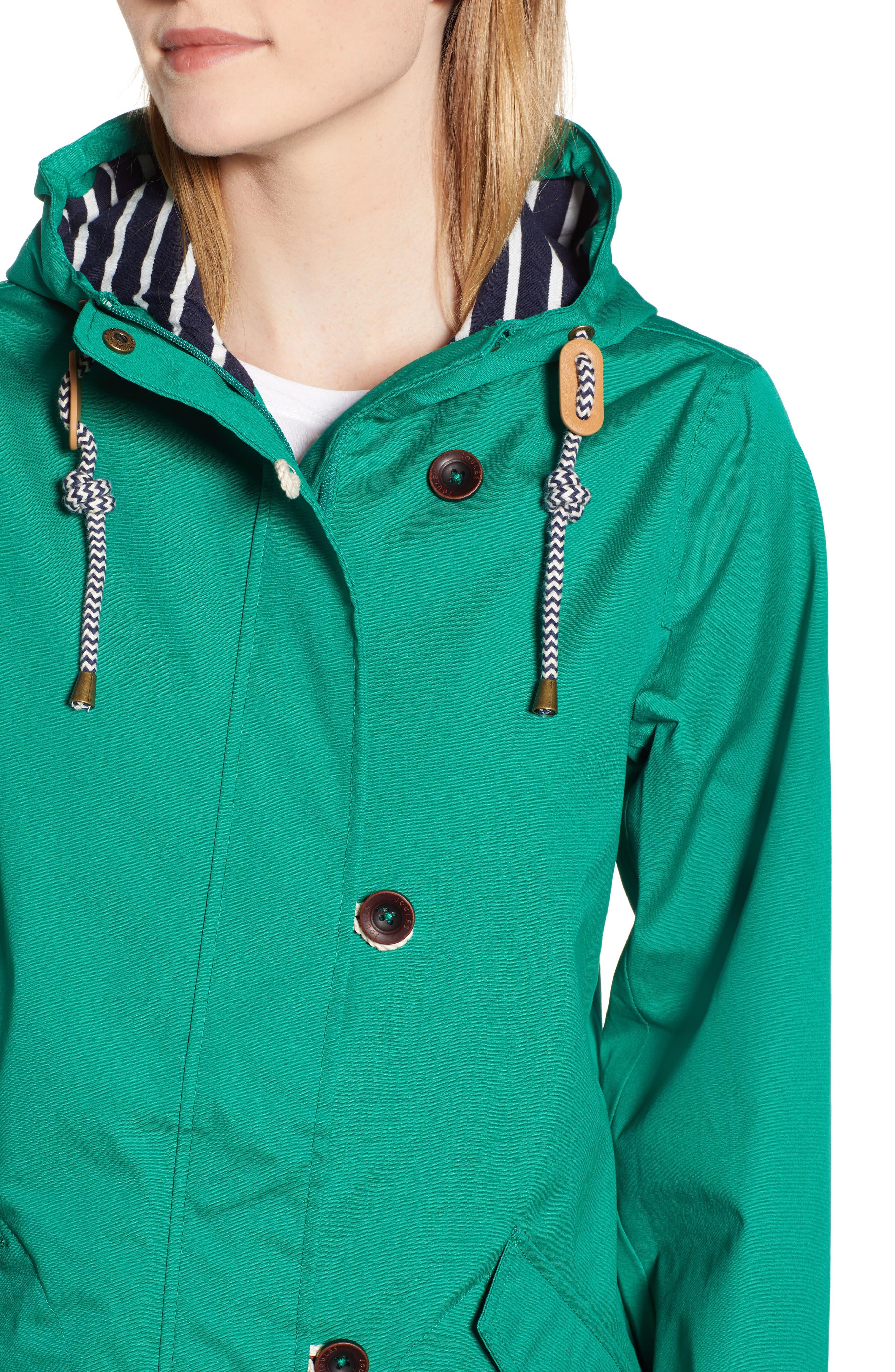 Coast Waterproof Hooded Jacket,                             Alternate thumbnail 4, color,                             GREEN