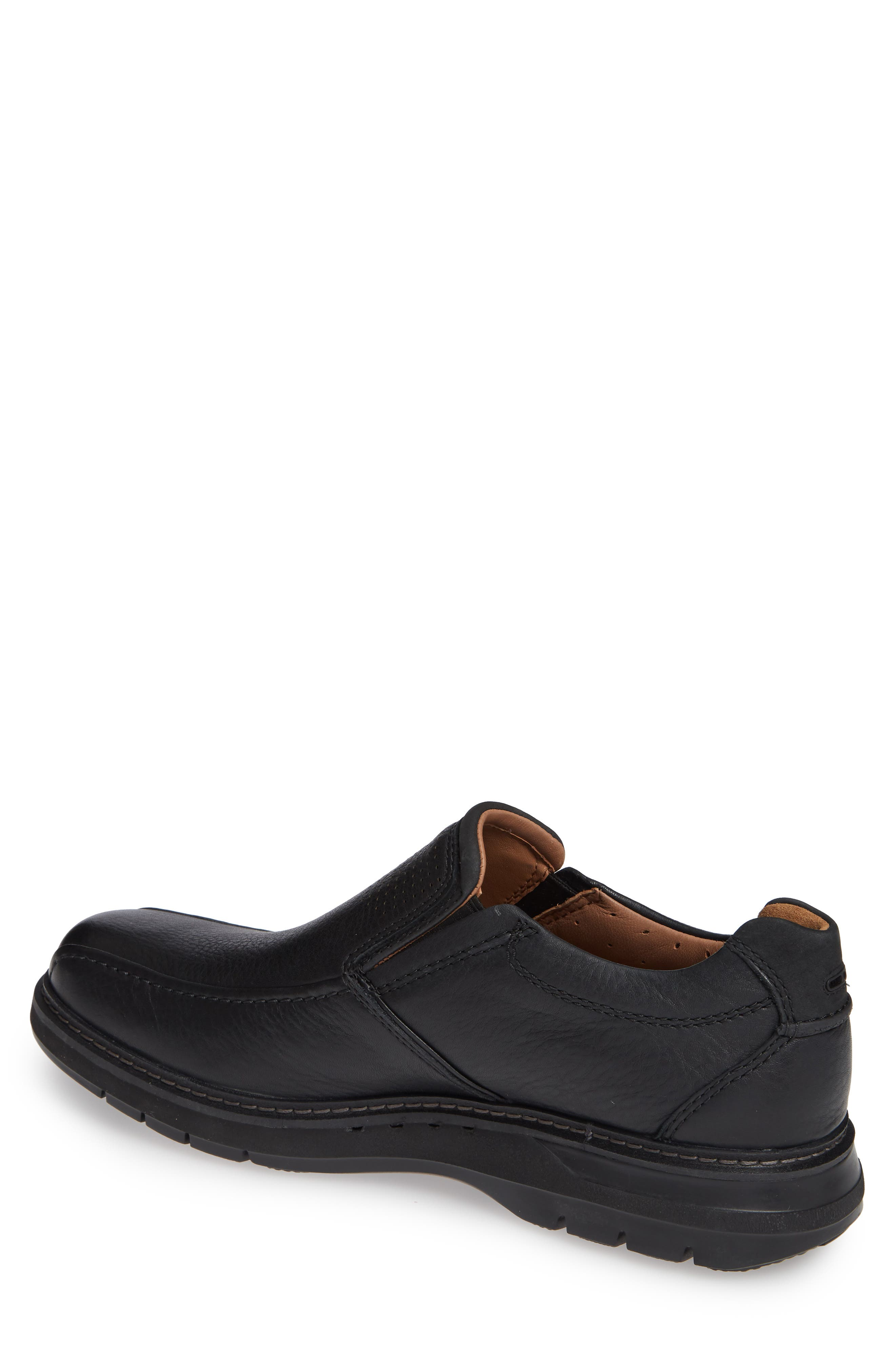 Un Ramble Step Venetian Loafer,                             Alternate thumbnail 2, color,                             BLACK LEATHER
