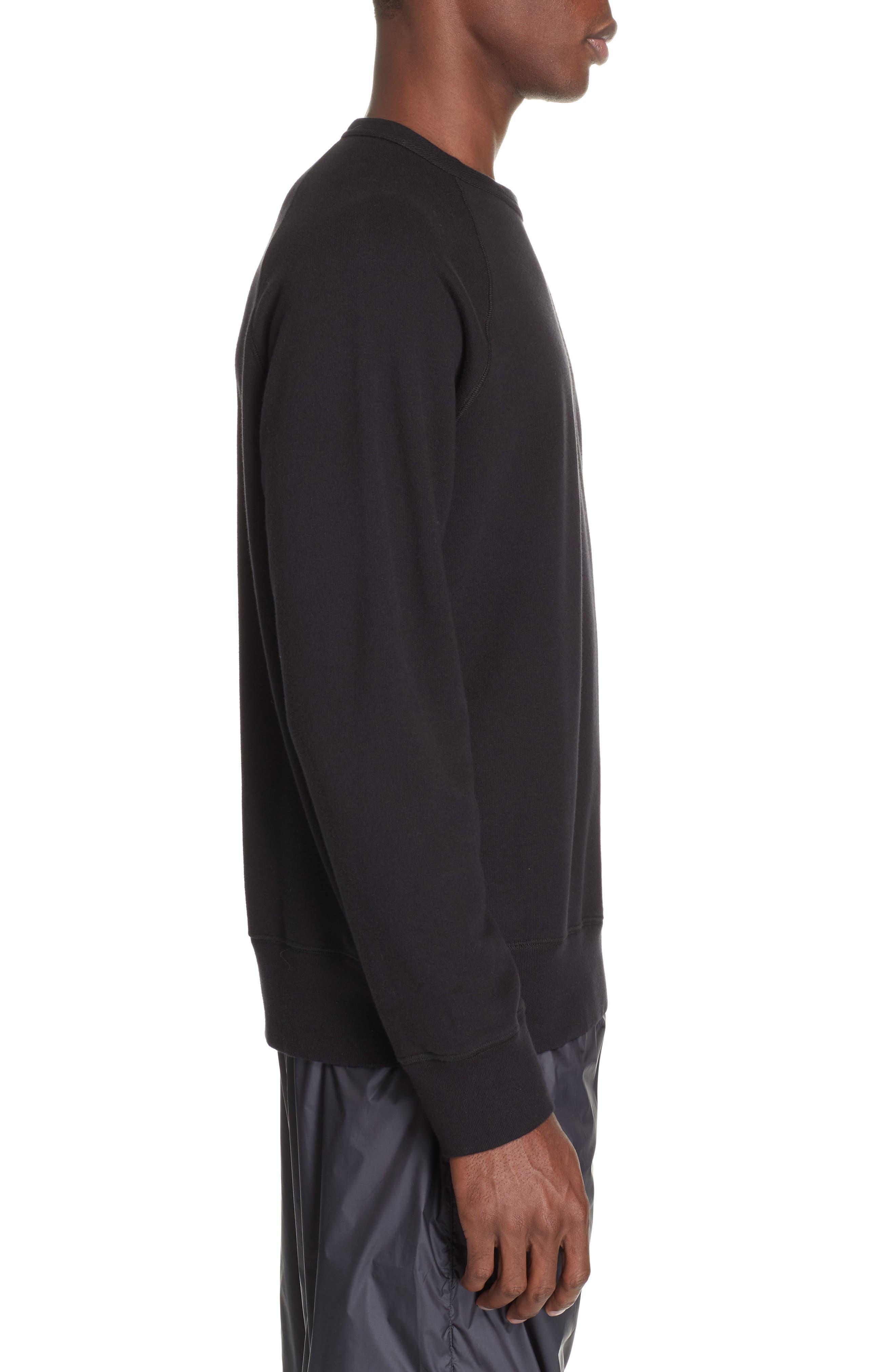 Crew Sweatshirt,                             Alternate thumbnail 3, color,                             BLACK LOOP SWEAT