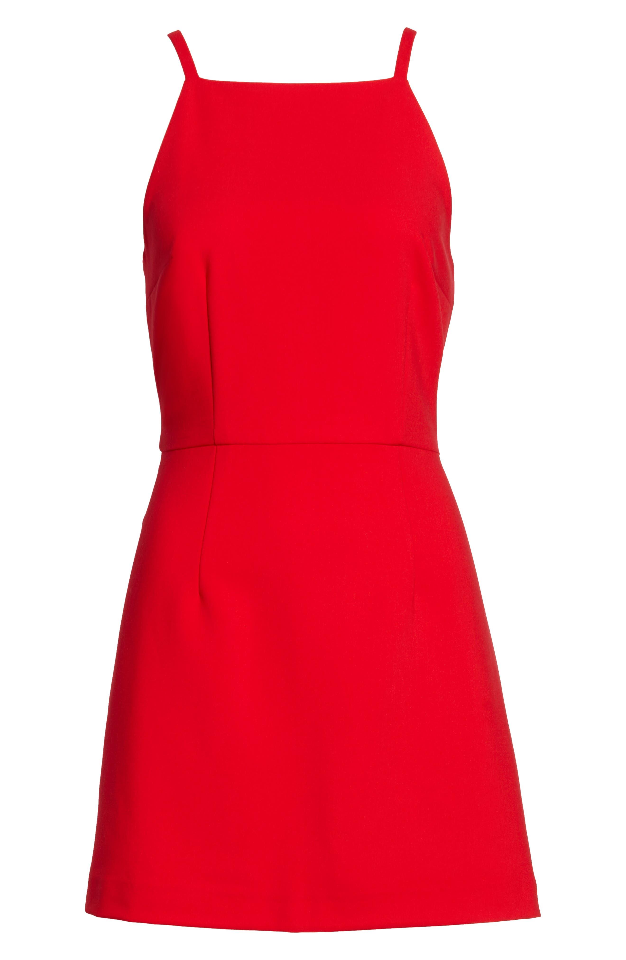 Whisper Light Sheath Dress,                             Alternate thumbnail 7, color,                             ROYAL SCARLETT