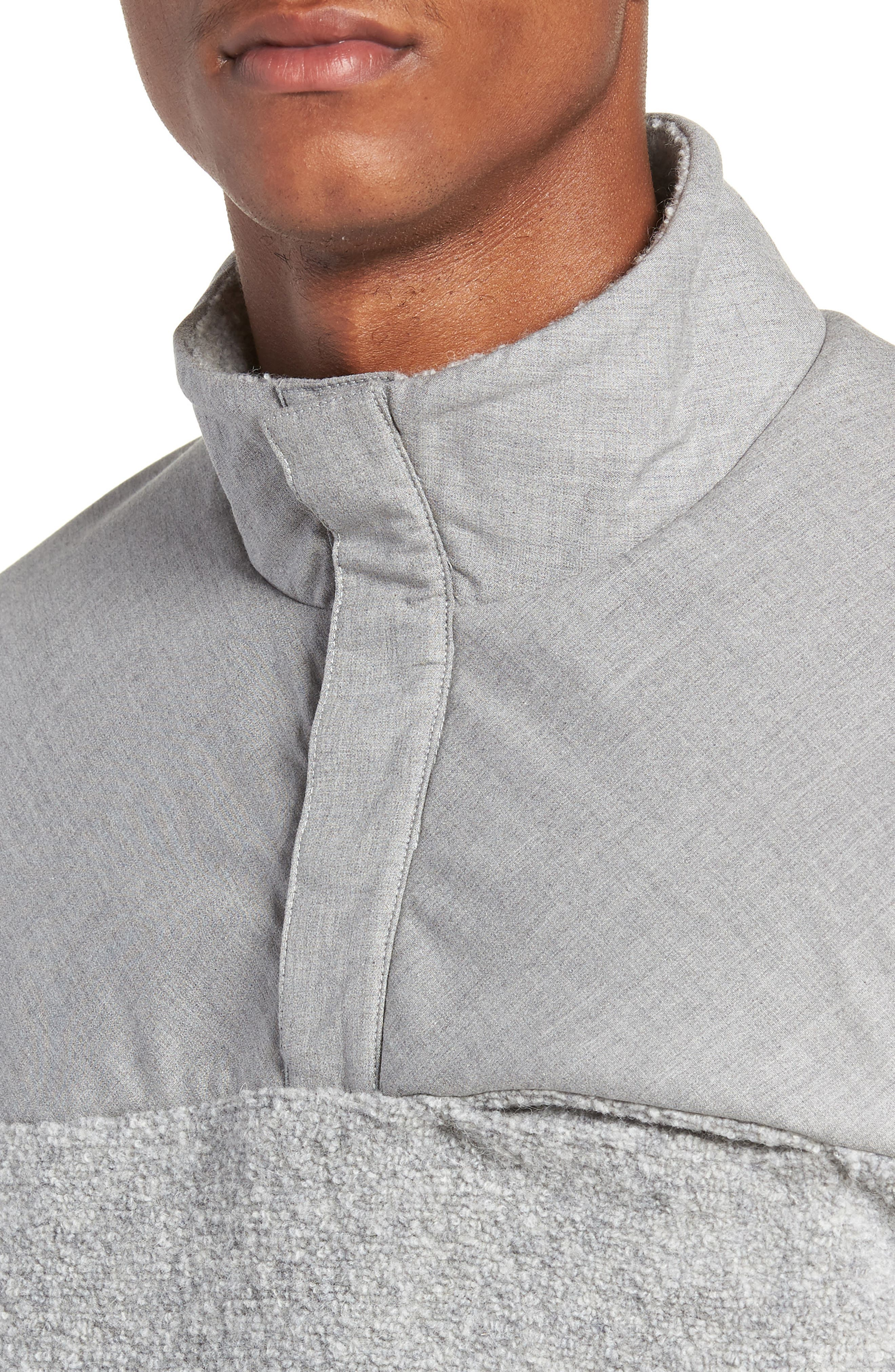 Tactical Fleece Pullover,                             Alternate thumbnail 4, color,                             HEATHER GREY
