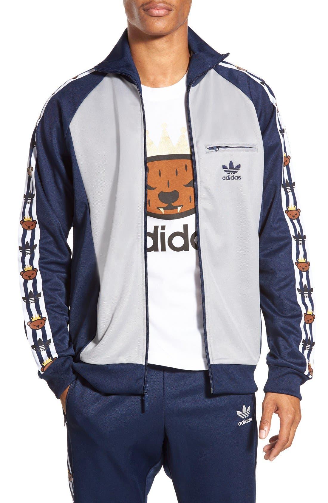 ADIDAS ORIGINALS x Nigo 'Retro Bear' Track Jacket, Main, color, 020