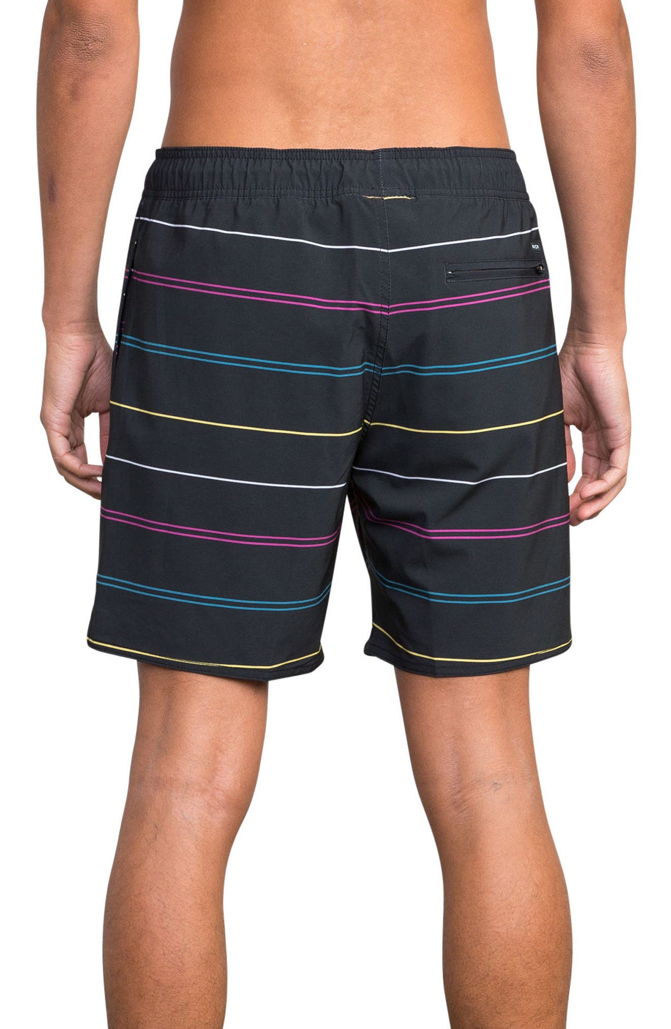 Middle Elastic Swim Trunks,                             Alternate thumbnail 2, color,                             008