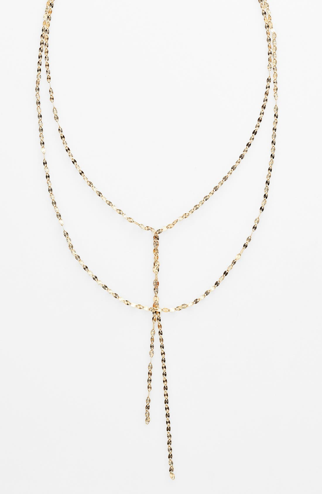 'Mega Blake' Lariat Necklace,                             Alternate thumbnail 4, color,                             YELLOW GOLD