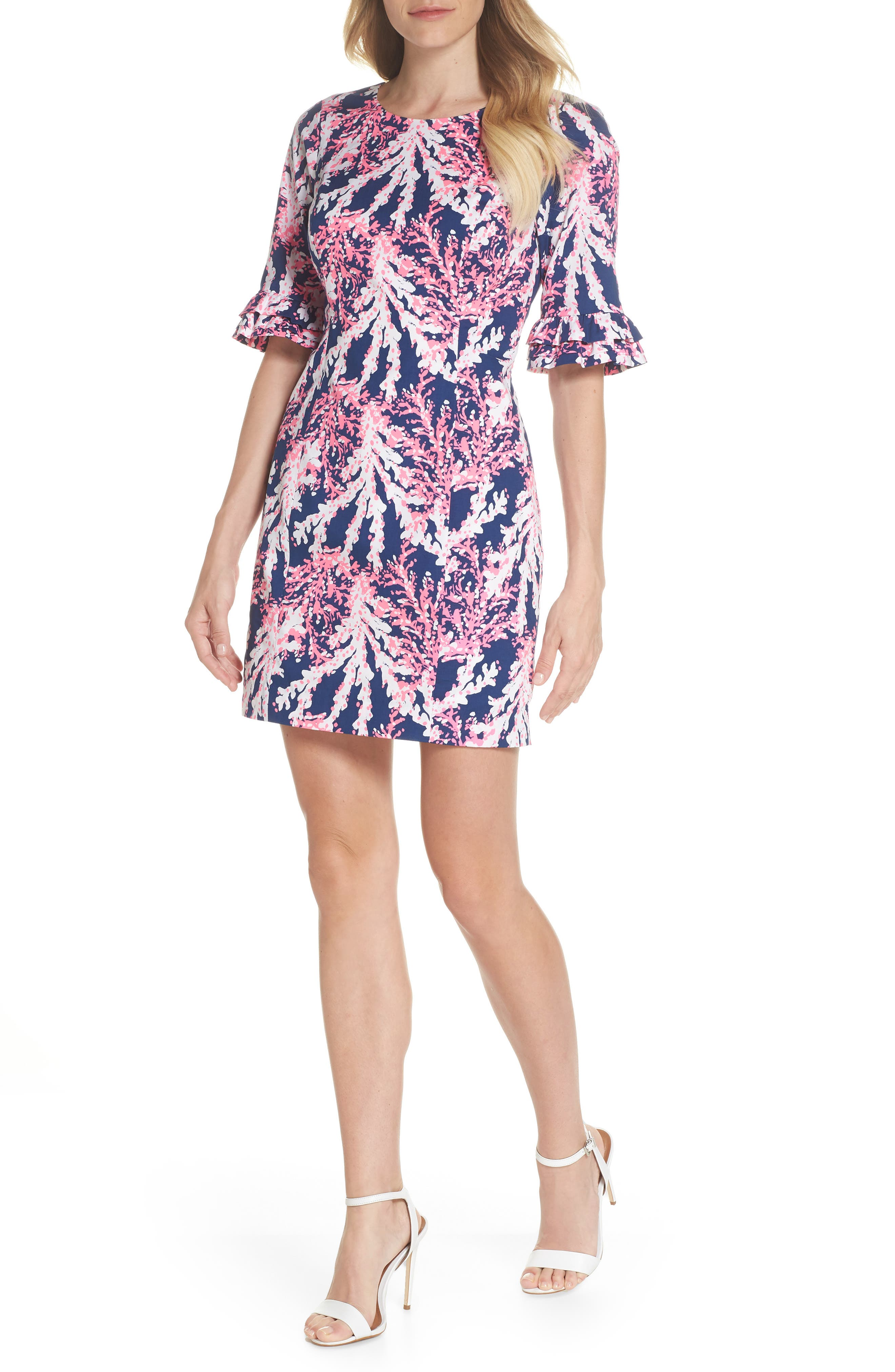 LILLY PULITZER<SUP>®</SUP>,                             Fiesta Stretch Sheath Dress,                             Alternate thumbnail 5, color,                             475