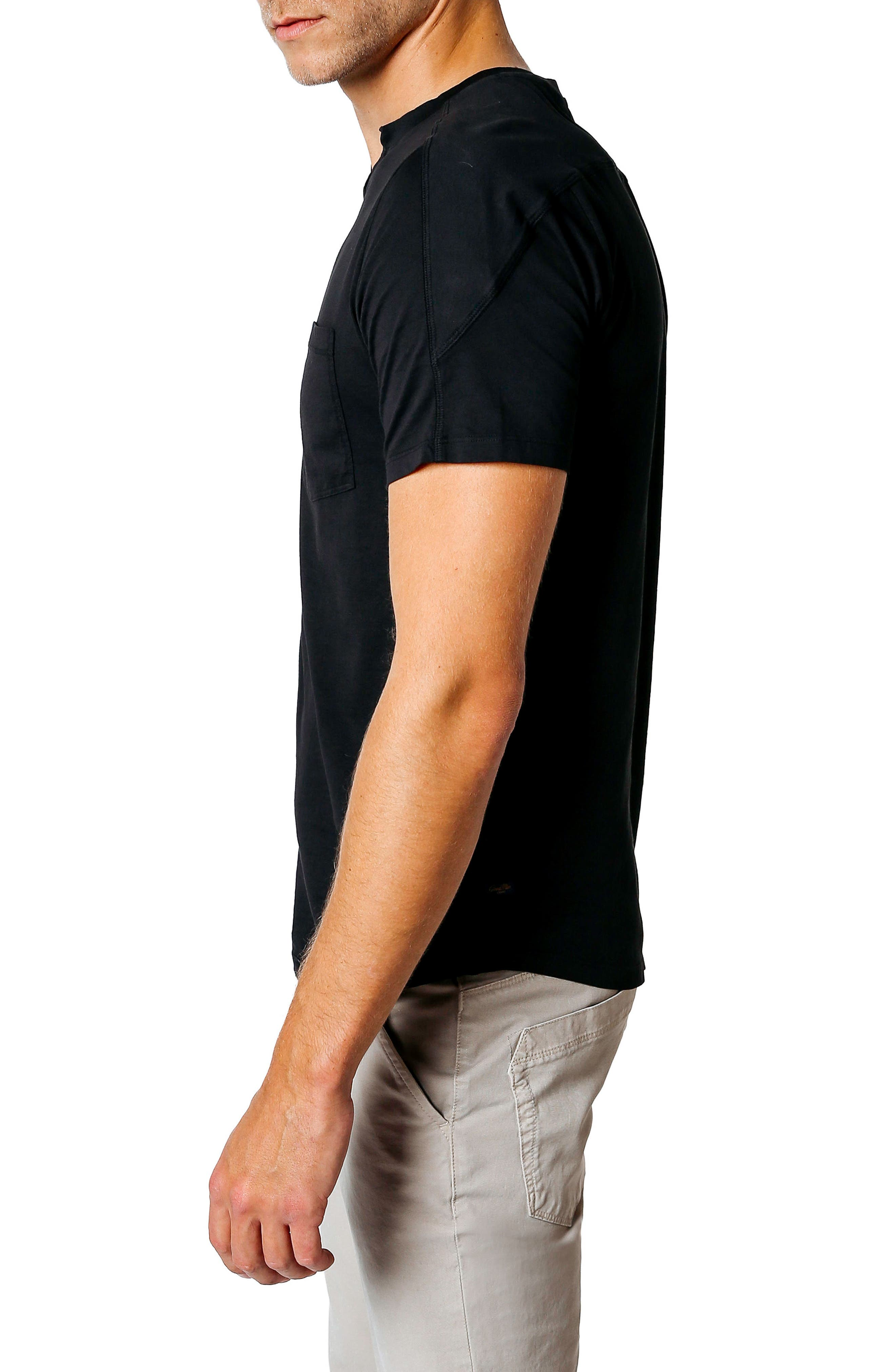 Premium Cotton T-Shirt,                             Alternate thumbnail 3, color,                             BLACK