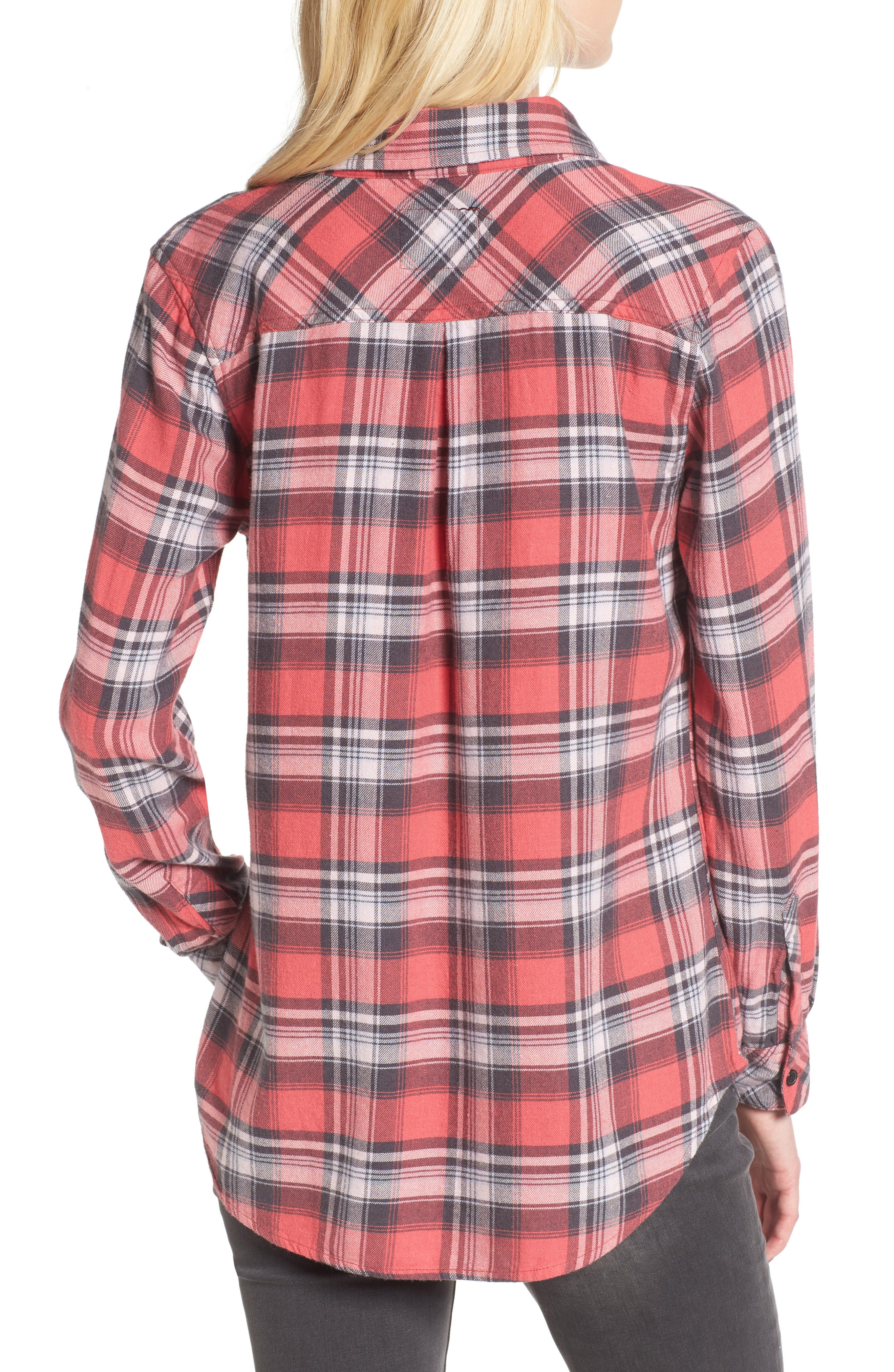 Milo Plaid Shirt,                             Alternate thumbnail 2, color,                             BONFIRE/ ASH