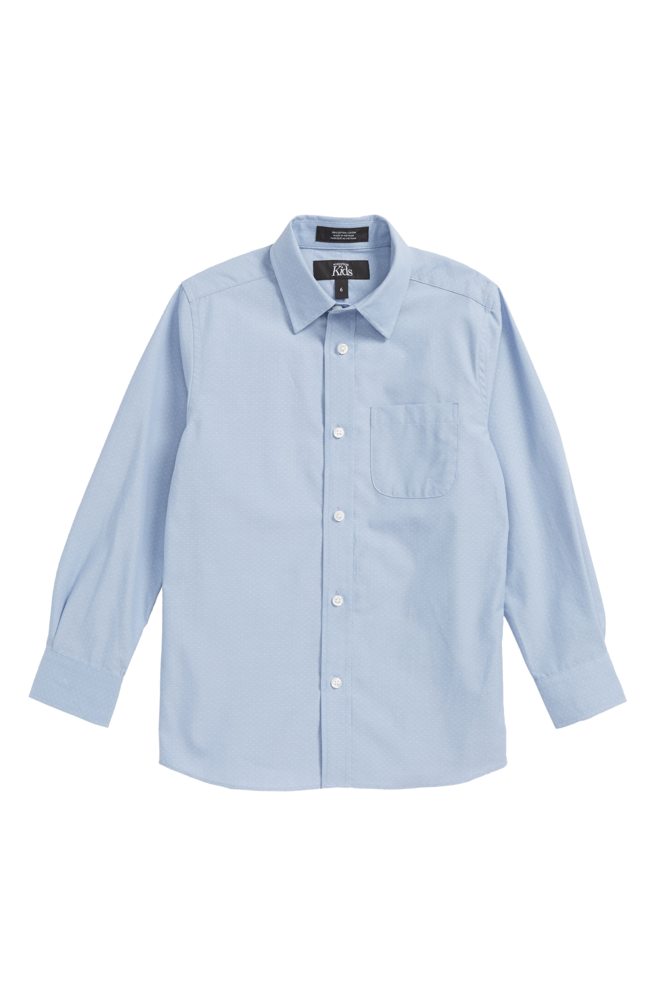 Poplin Dress Shirt,                             Main thumbnail 1, color,                             450