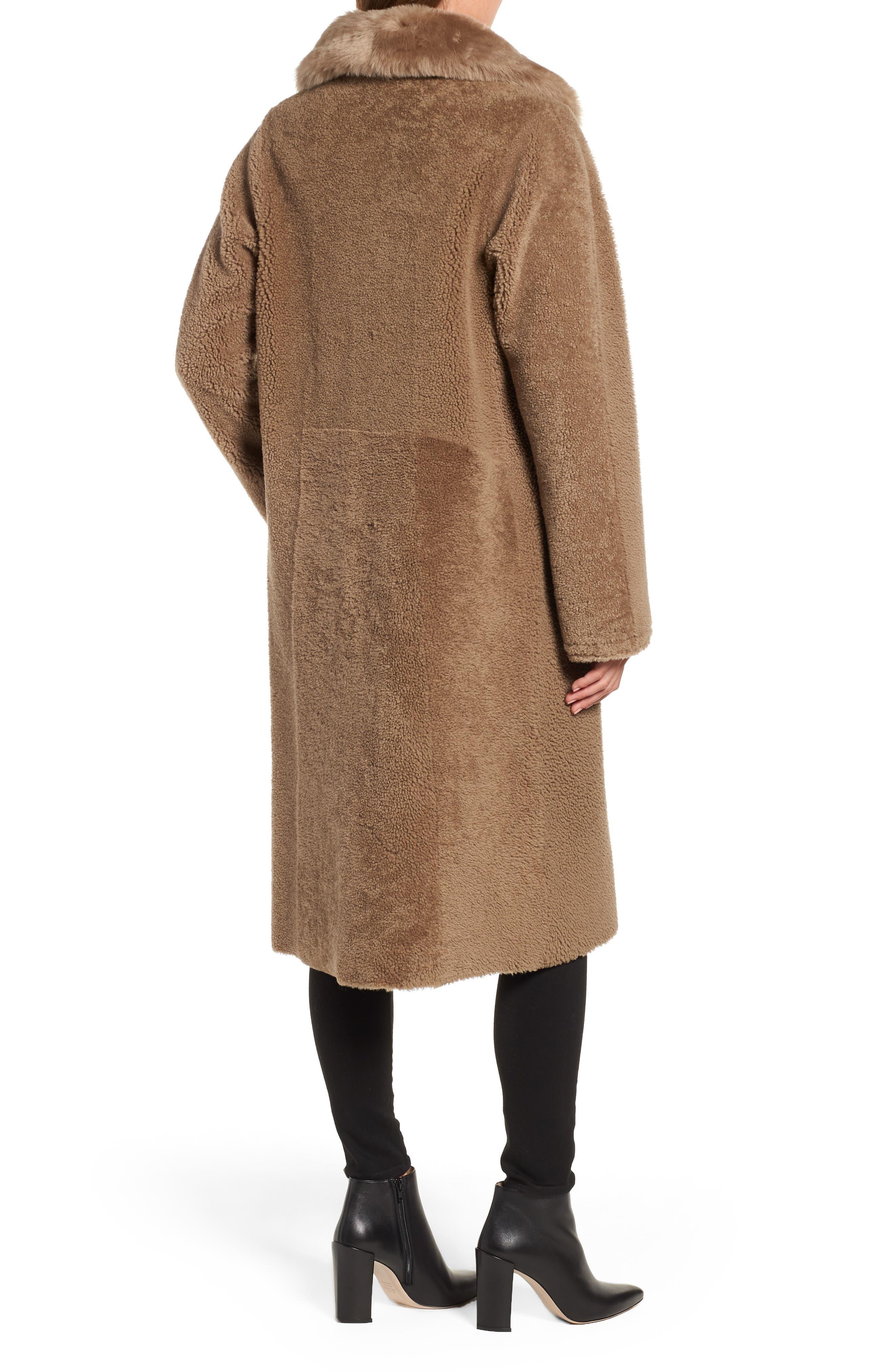 HISO,                             Genuine Merino Shearling Coat,                             Alternate thumbnail 2, color,                             250