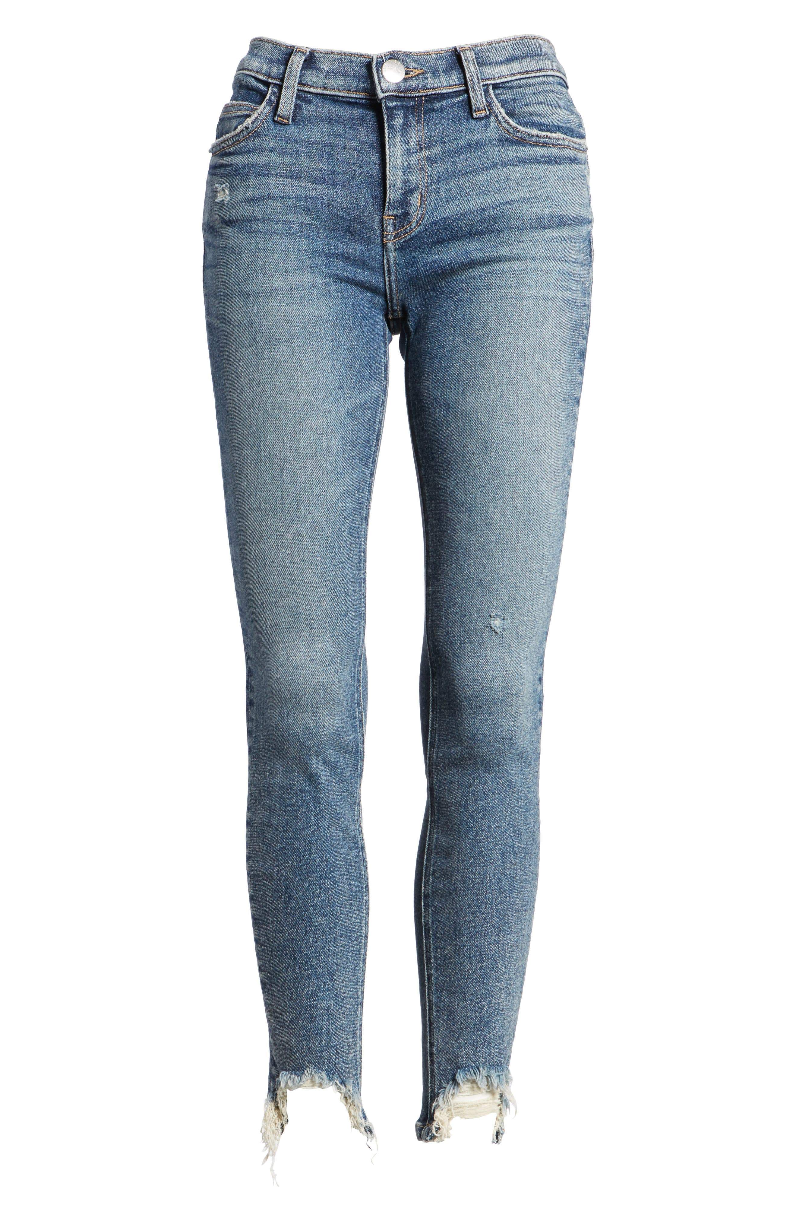 The Stiletto High Waist Ankle Skinny Jeans,                             Alternate thumbnail 7, color,                             458