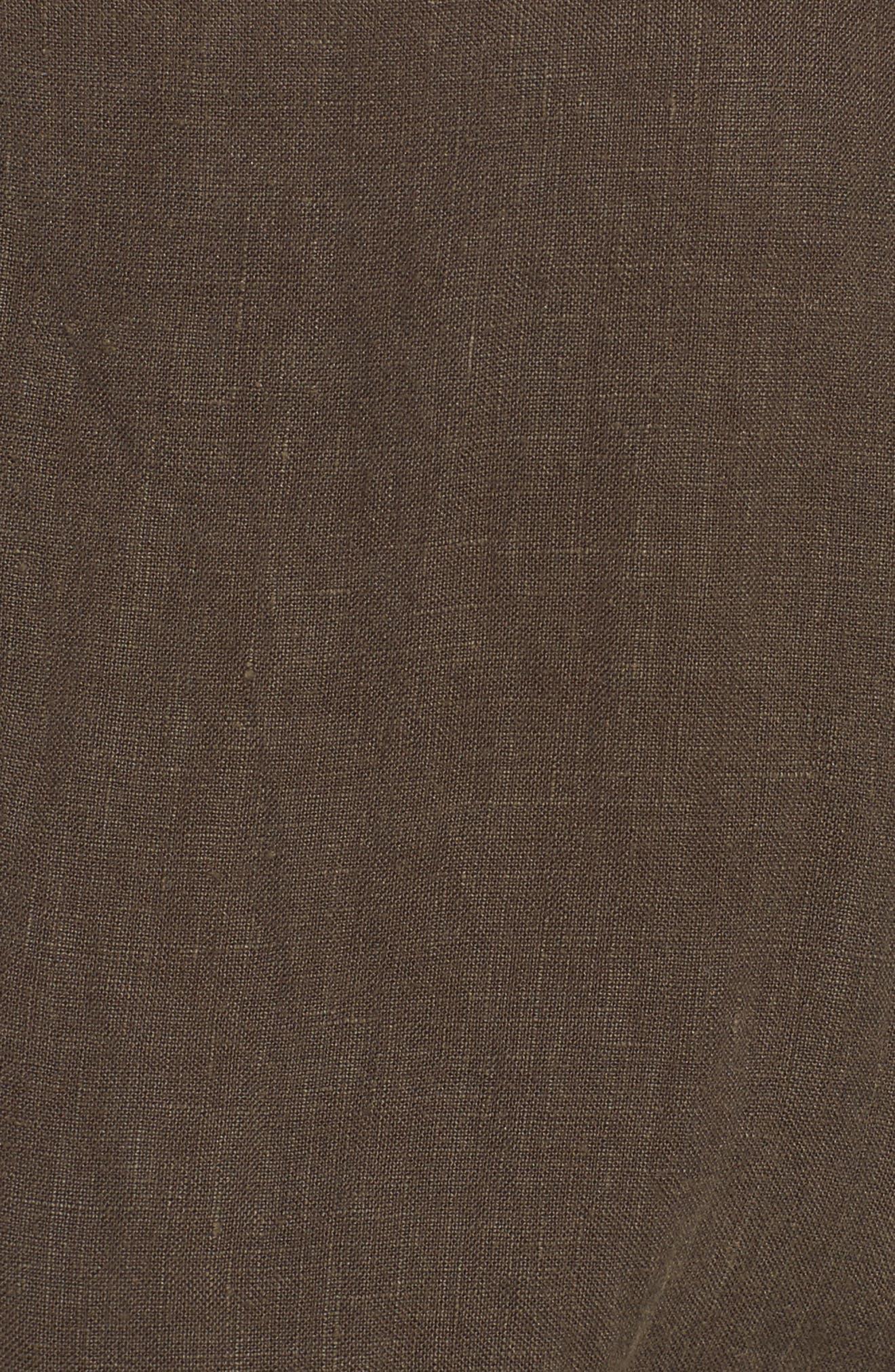 Linen Drawstring Shirtdress,                             Alternate thumbnail 5, color,                             337