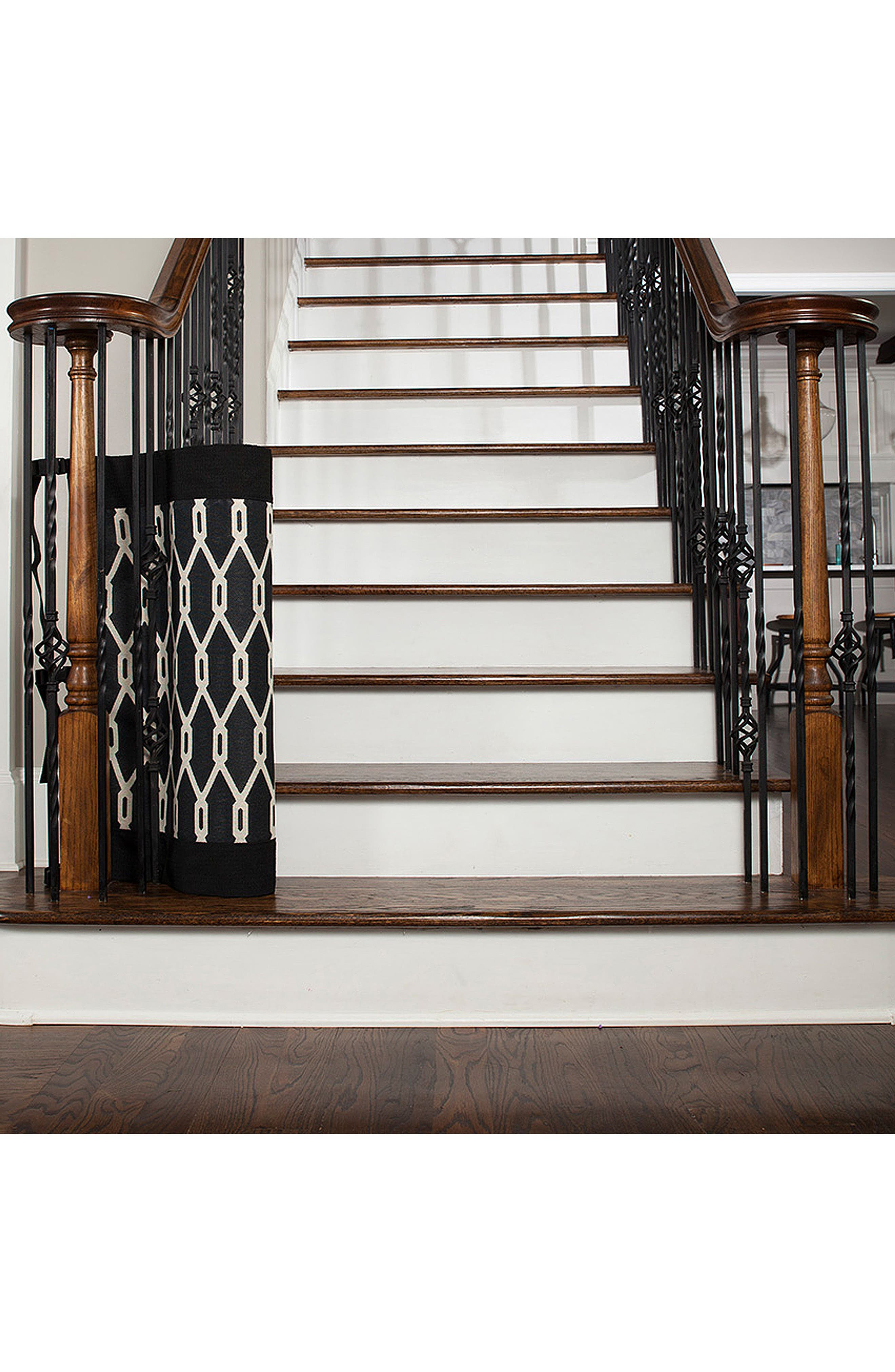 Wall to Banister Indoor Outdoor Safety Gate,                             Alternate thumbnail 3, color,                             002
