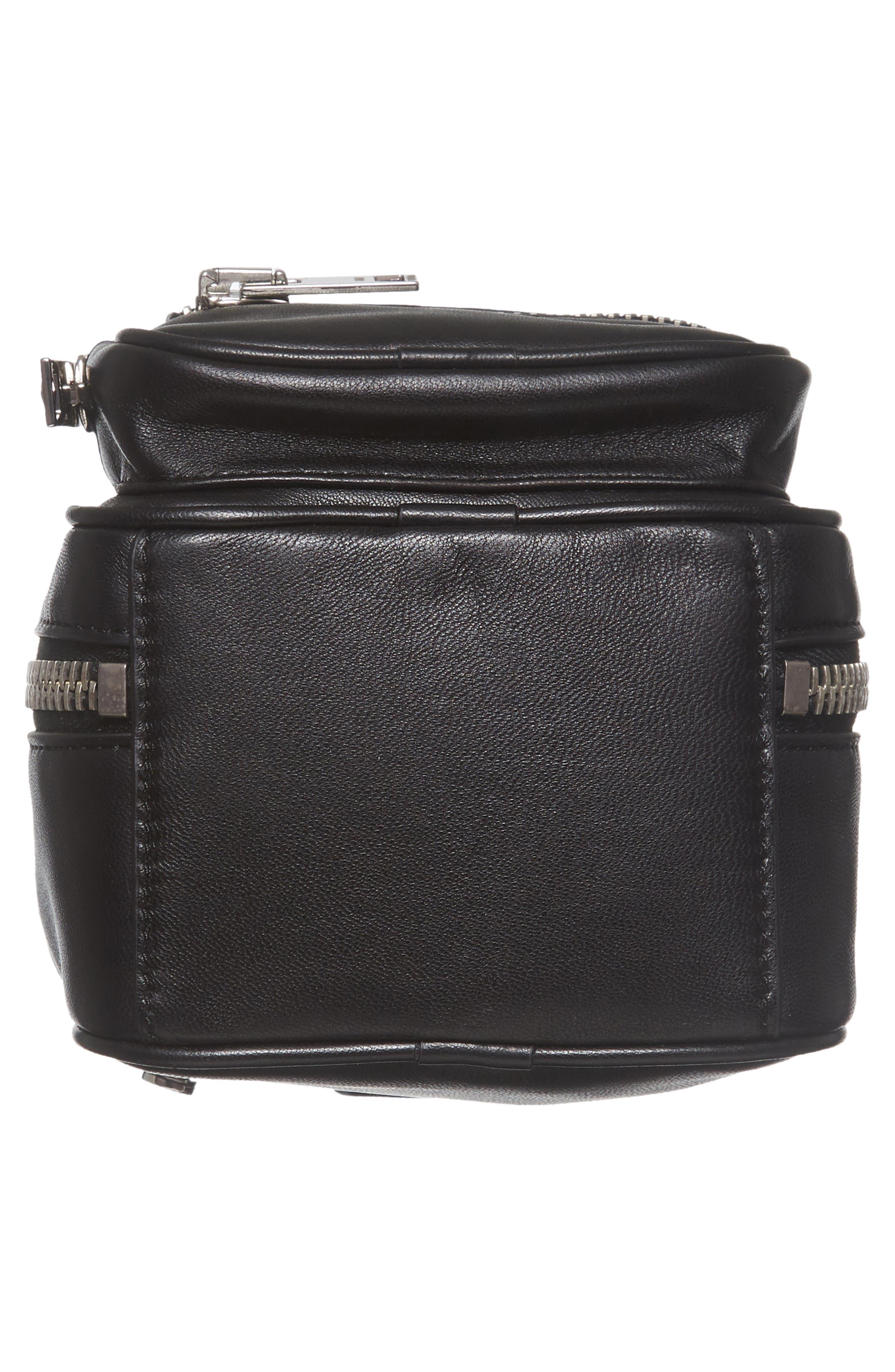 Mini Attica Leather Backpack Shaped Crossbody Bag,                             Alternate thumbnail 6, color,