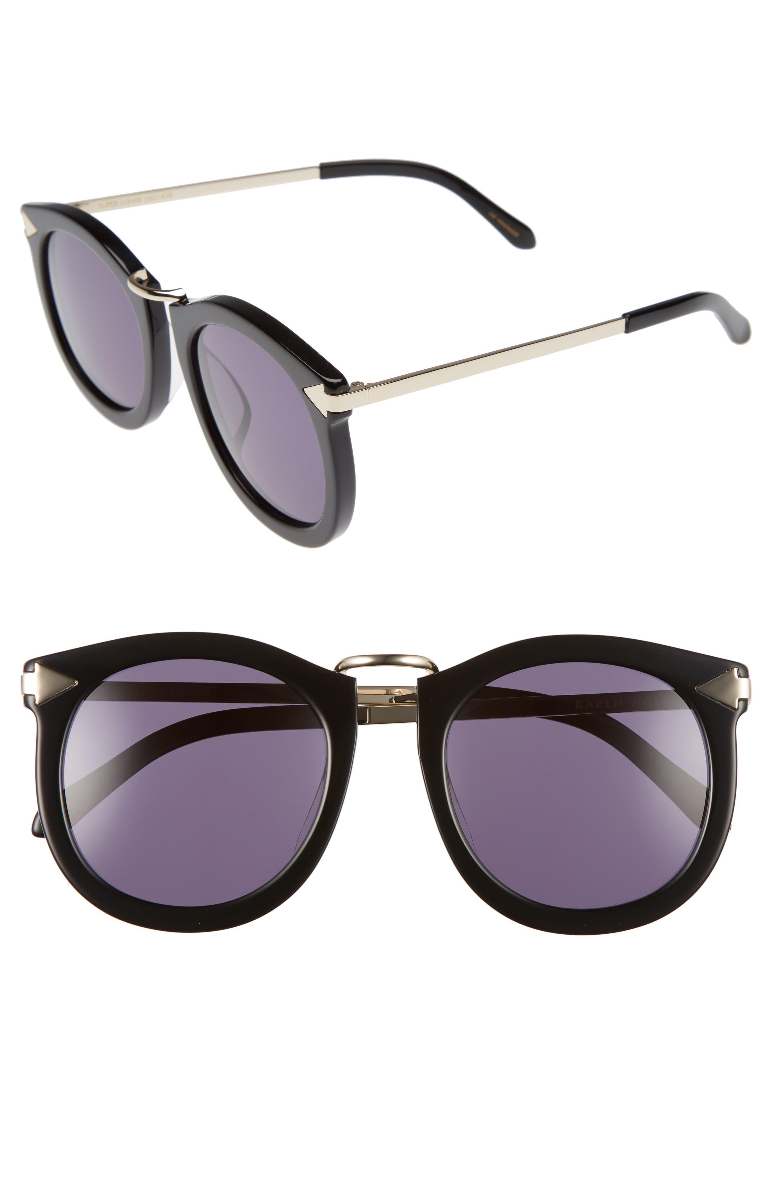Alternative Fit Super Lunar - Arrowed by Karen 50mm Sunglasses,                         Main,                         color, 001